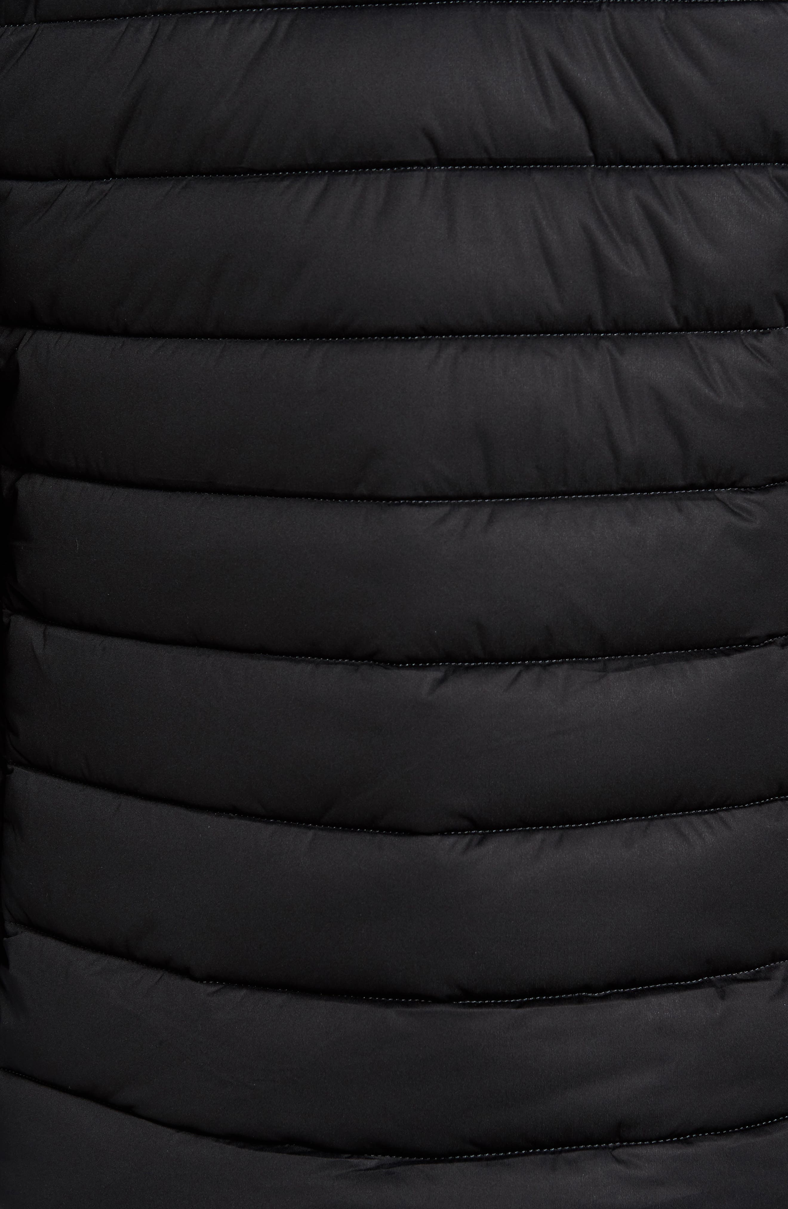 Hooded Water Resistant Puffer Jacket,                             Alternate thumbnail 6, color,                             001