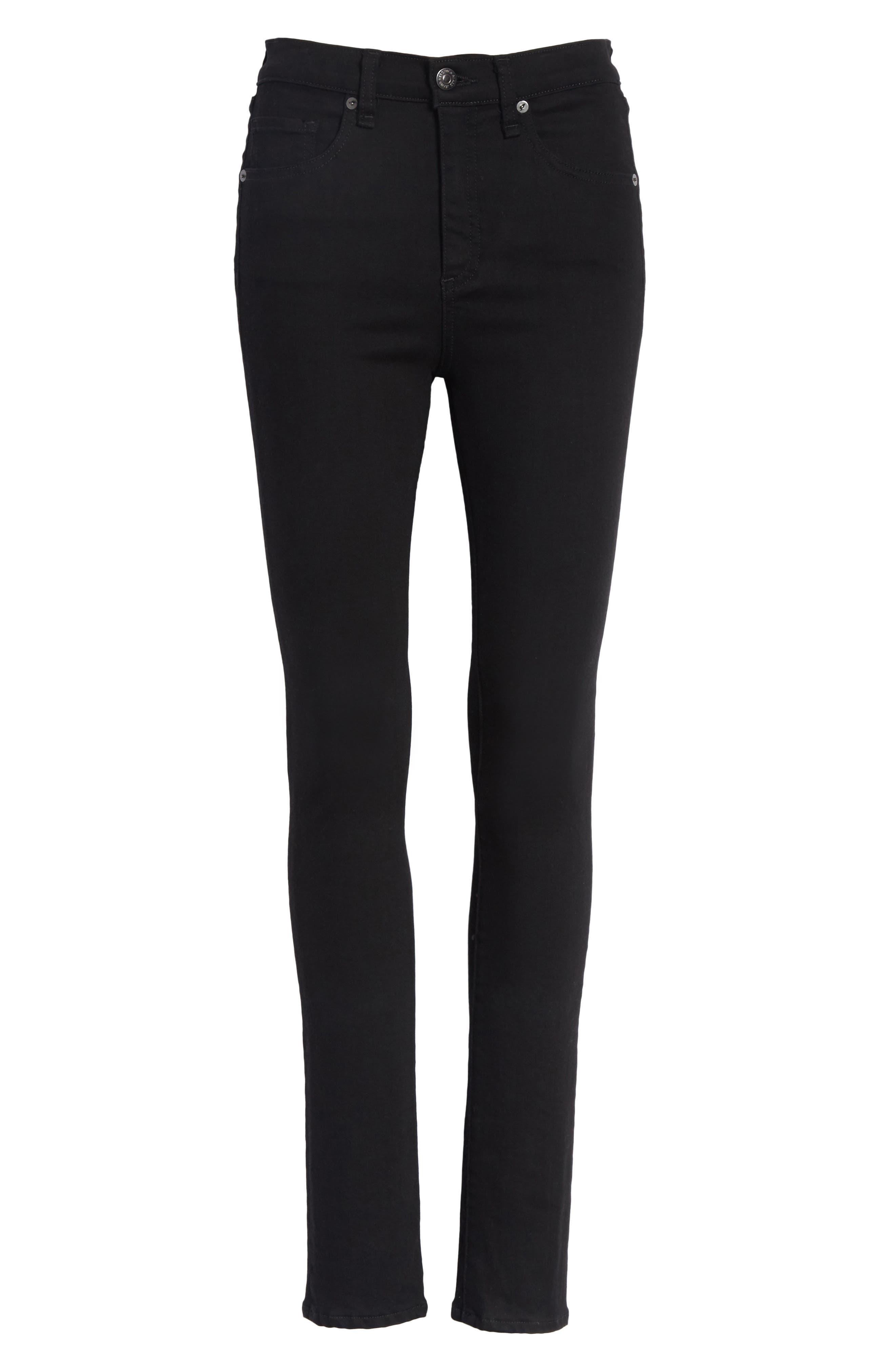 Kate 10 Skinny Jeans,                             Alternate thumbnail 6, color,                             RAVEN