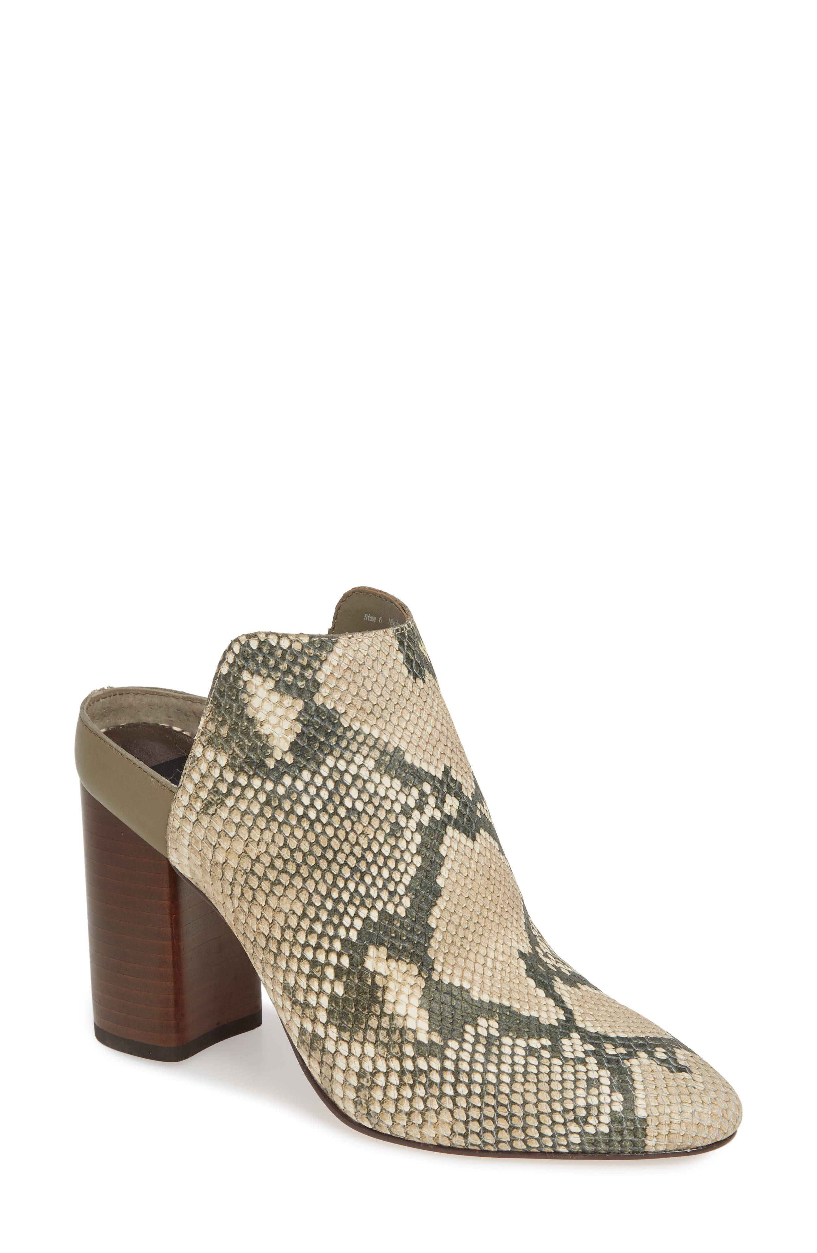 DOLCE VITA Renly Mule, Main, color, SNAKE PRINT LEATHER