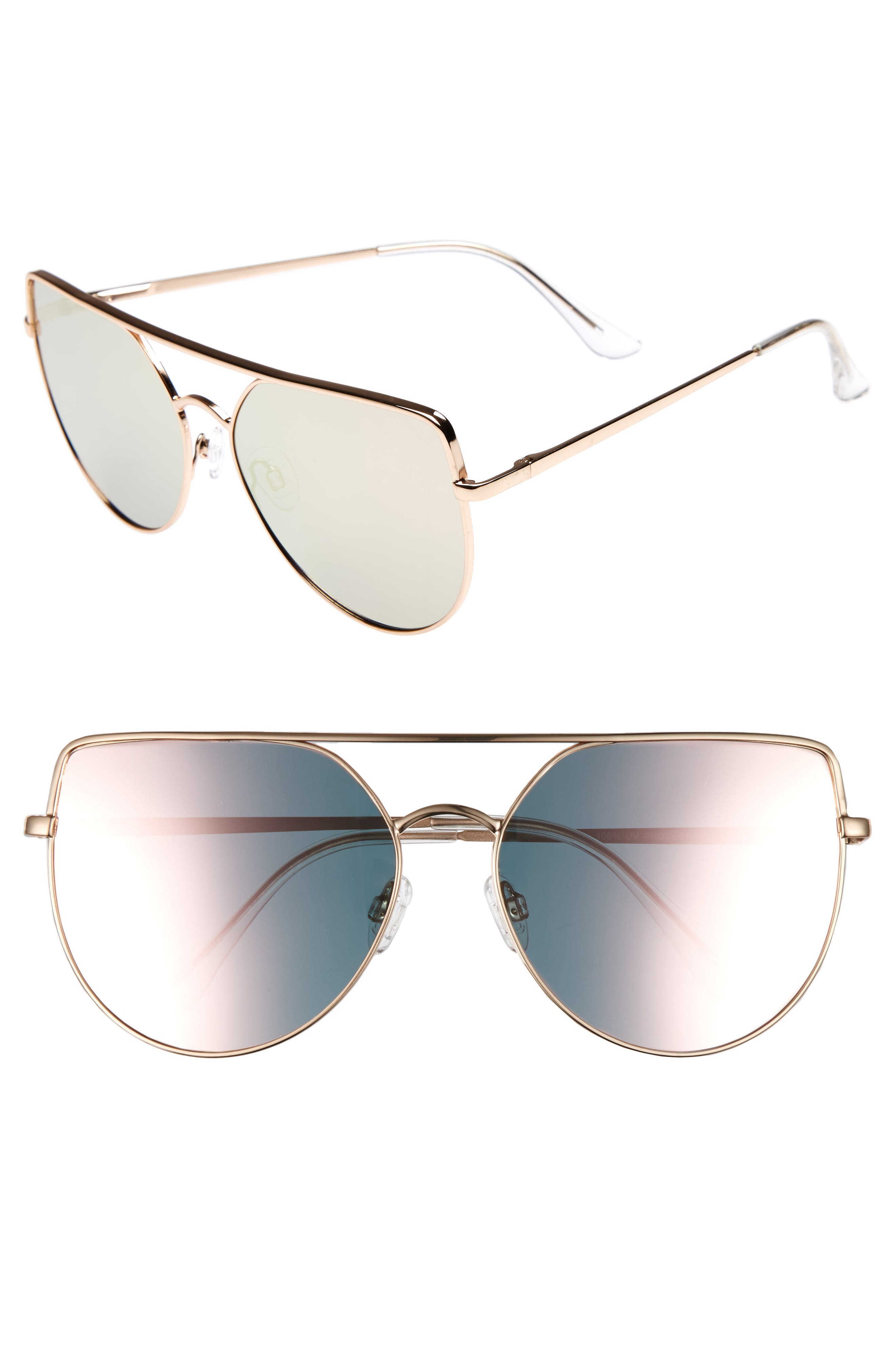 60mm Aviator Sunglasses,                             Main thumbnail 2, color,