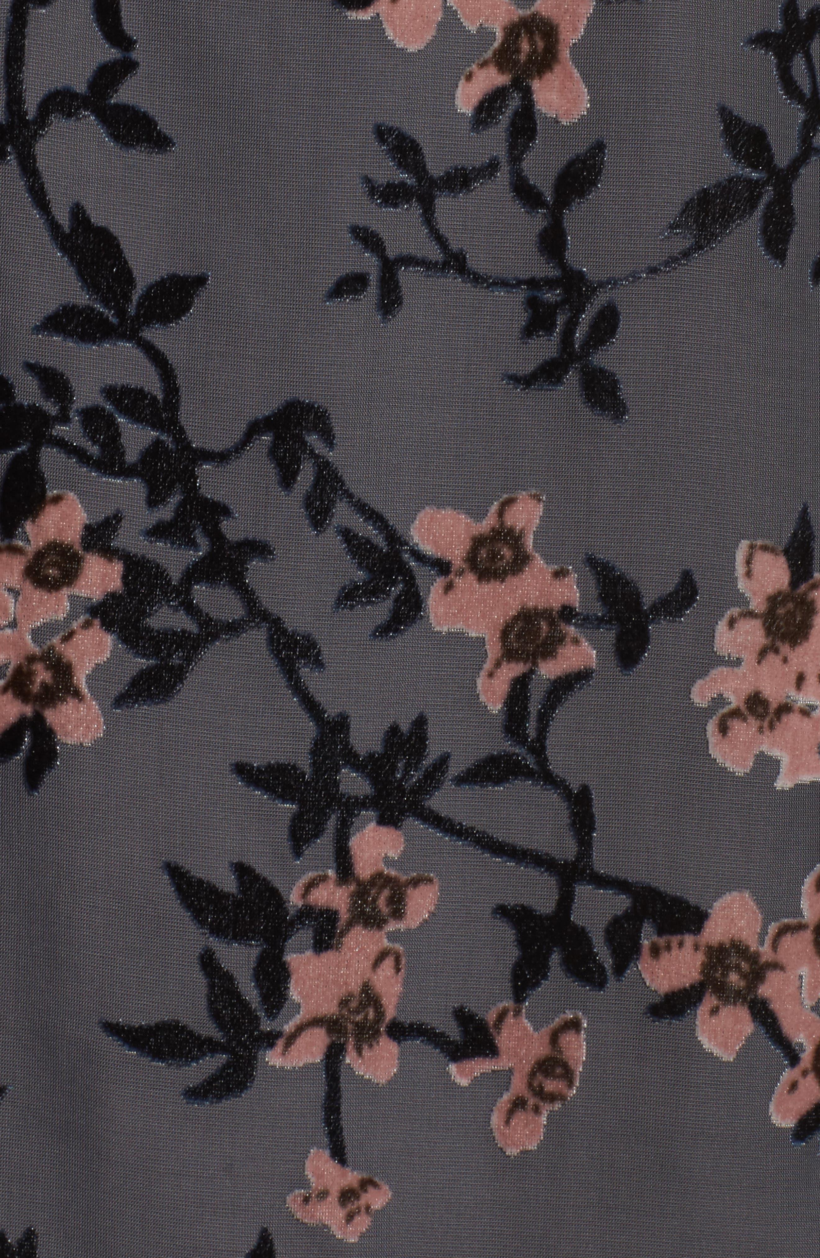 Floral Burnout Velvet Top,                             Alternate thumbnail 5, color,                             029