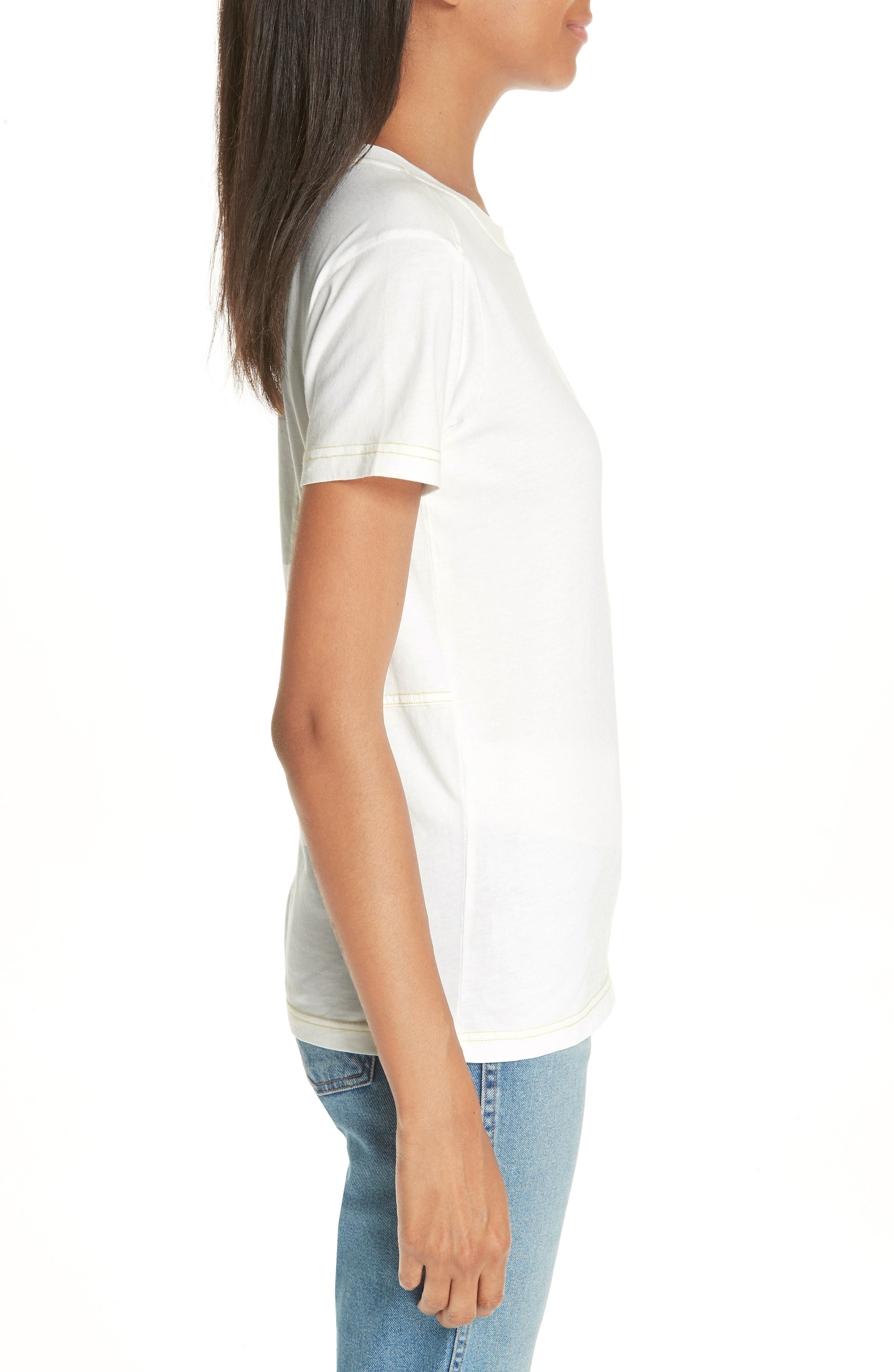 Logo Embroidered Tee,                             Alternate thumbnail 3, color,                             100