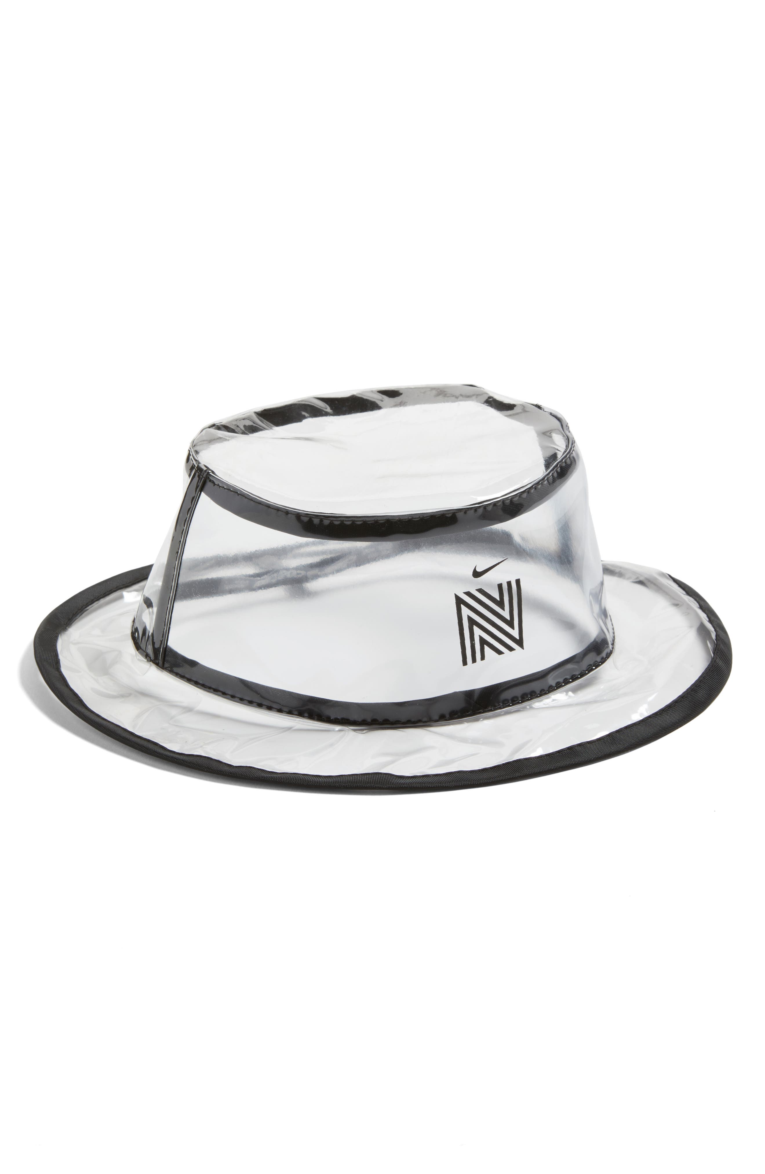Clear Coated Nordstrom x Nike Translucent Bucket Rain Hat,                             Main thumbnail 1, color,                             960