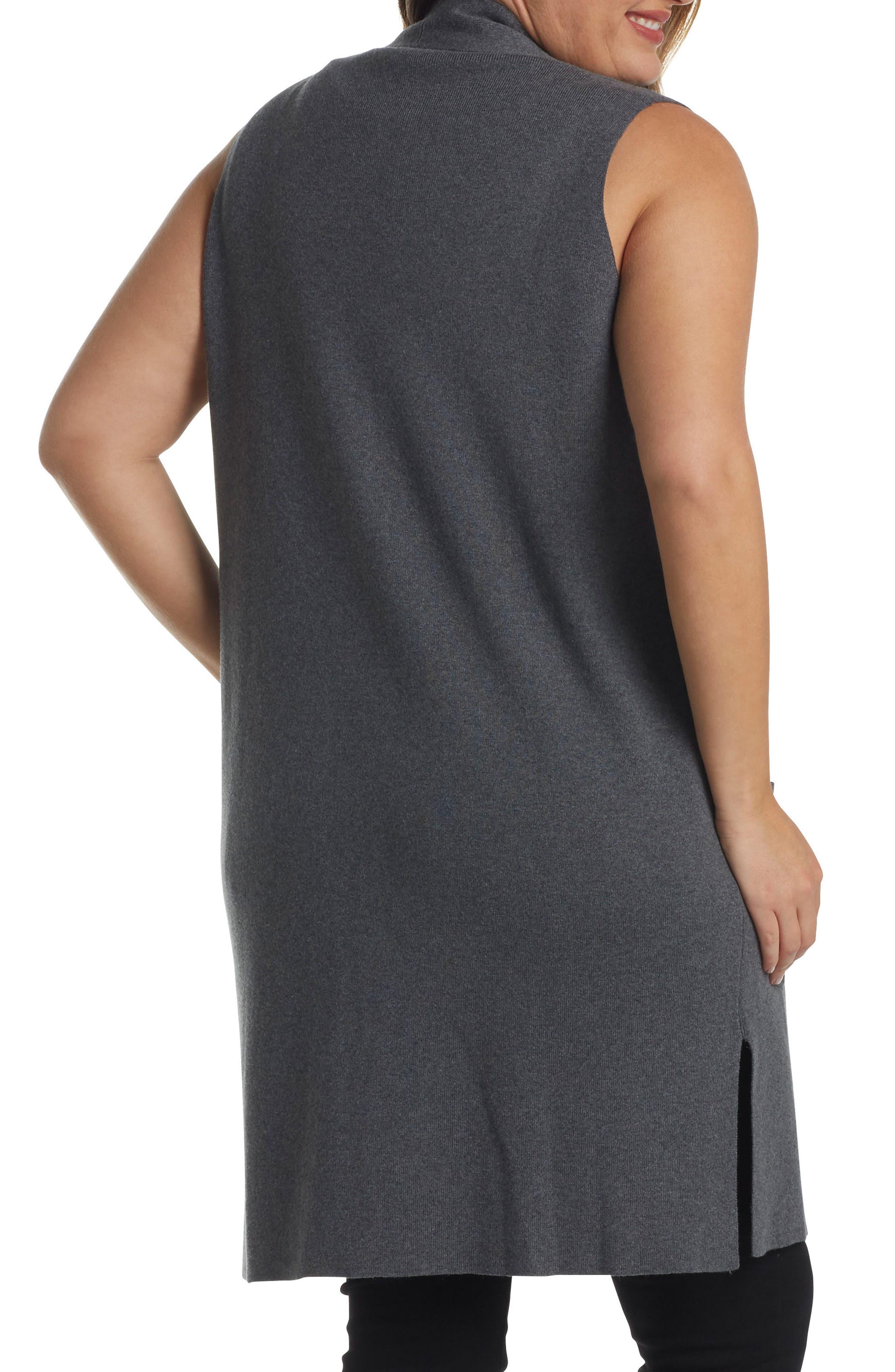 Melva Cotton & Cashmere Open Front Sweater Vest,                             Alternate thumbnail 3, color,                             023
