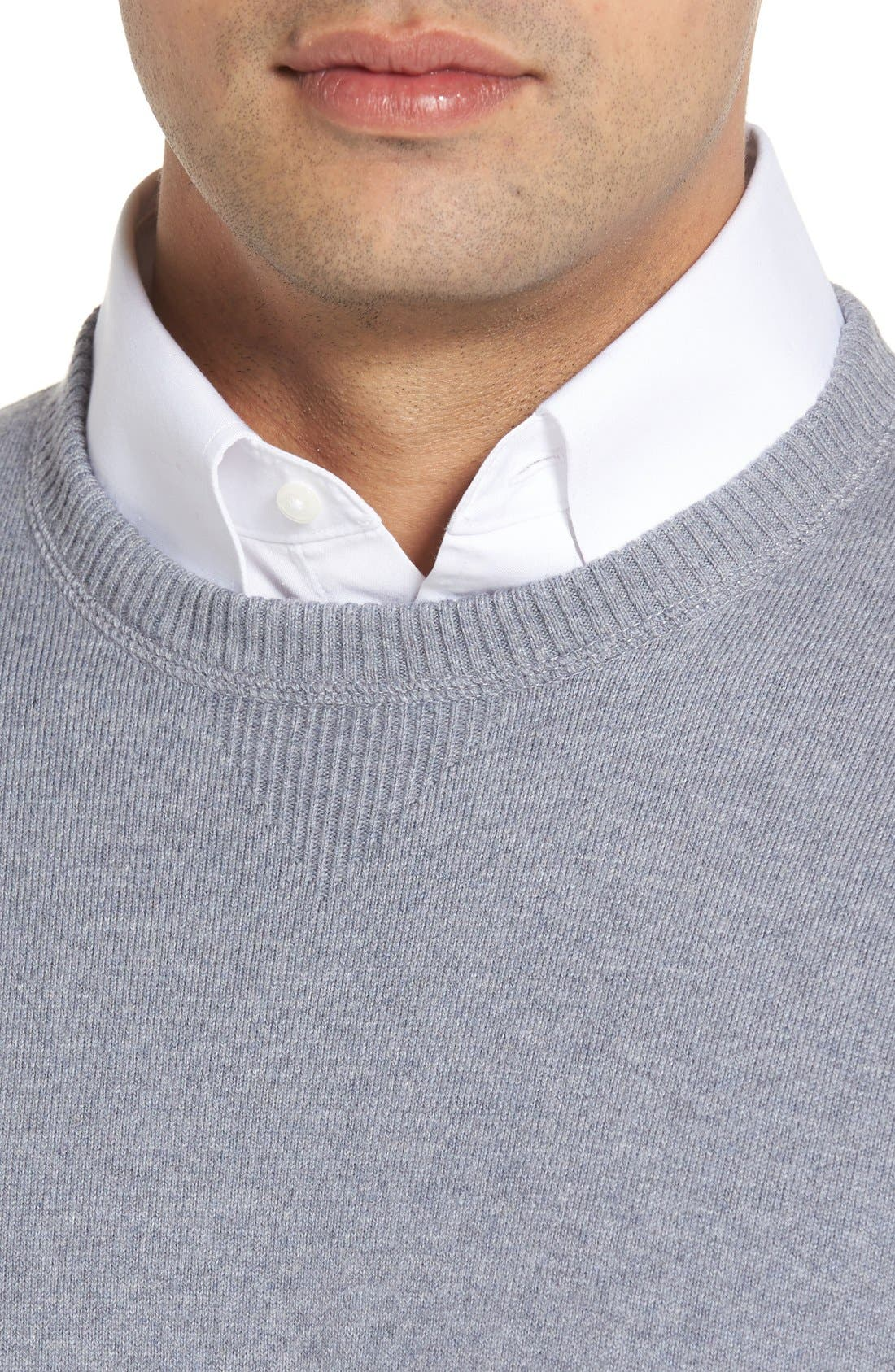 'Jersey Sport' Cotton Blend Crewneck Sweater,                             Alternate thumbnail 26, color,