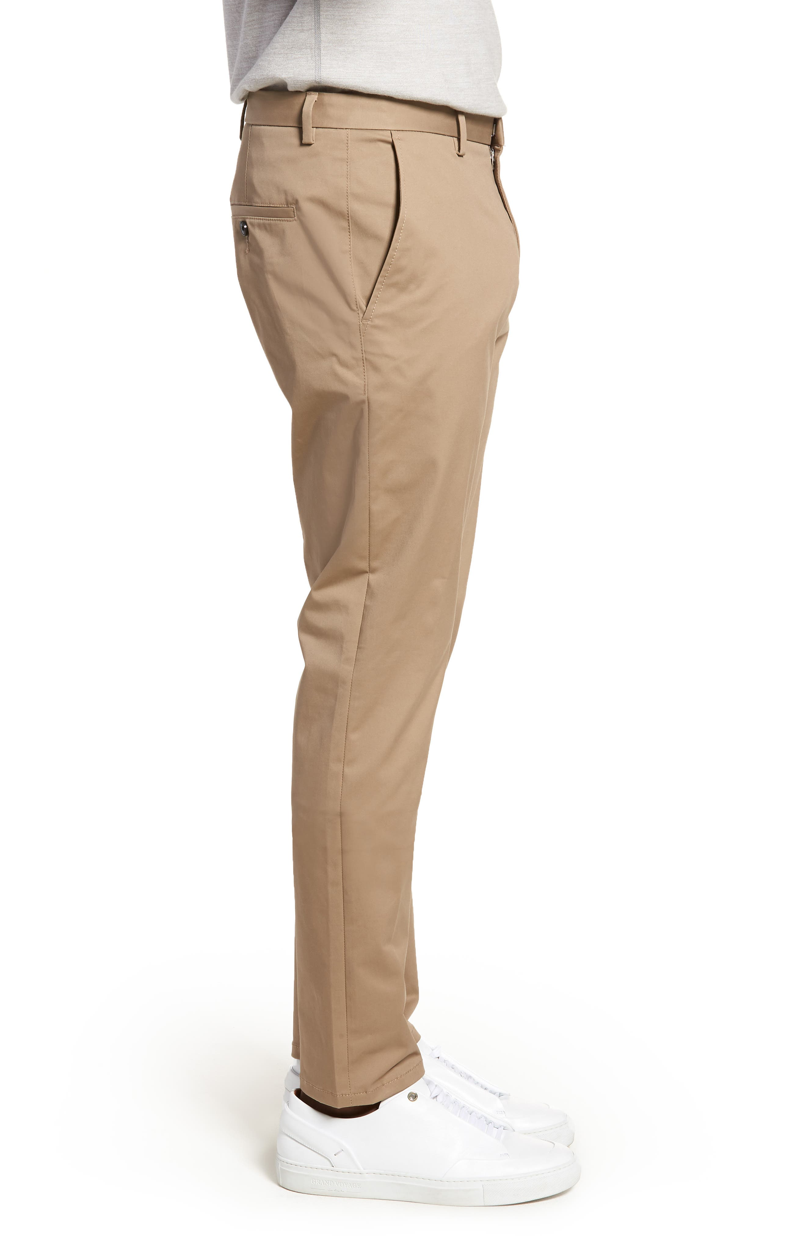 Helgo Flat Front Stretch Pants,                             Alternate thumbnail 3, color,                             265
