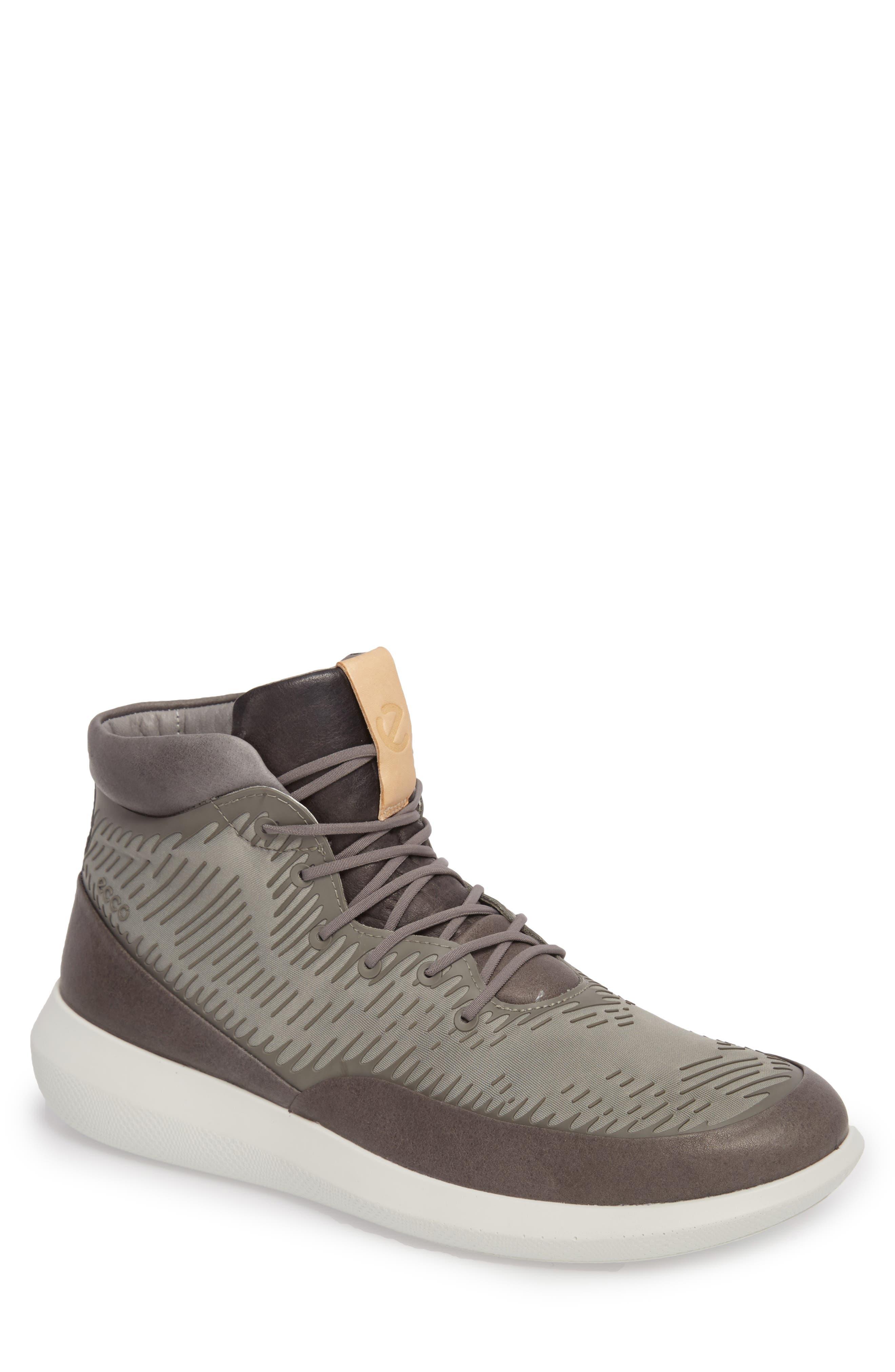 Ecco Scinapse High Top Sneaker - Grey