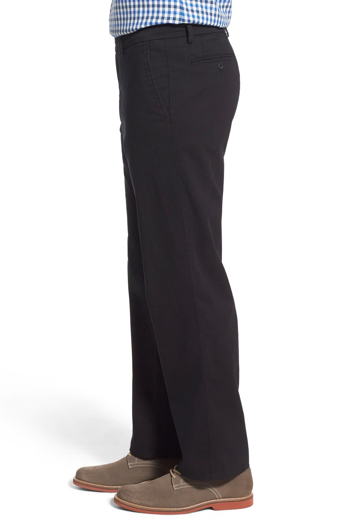 Mansfield Pima Cotton Pant,                             Alternate thumbnail 3, color,                             001