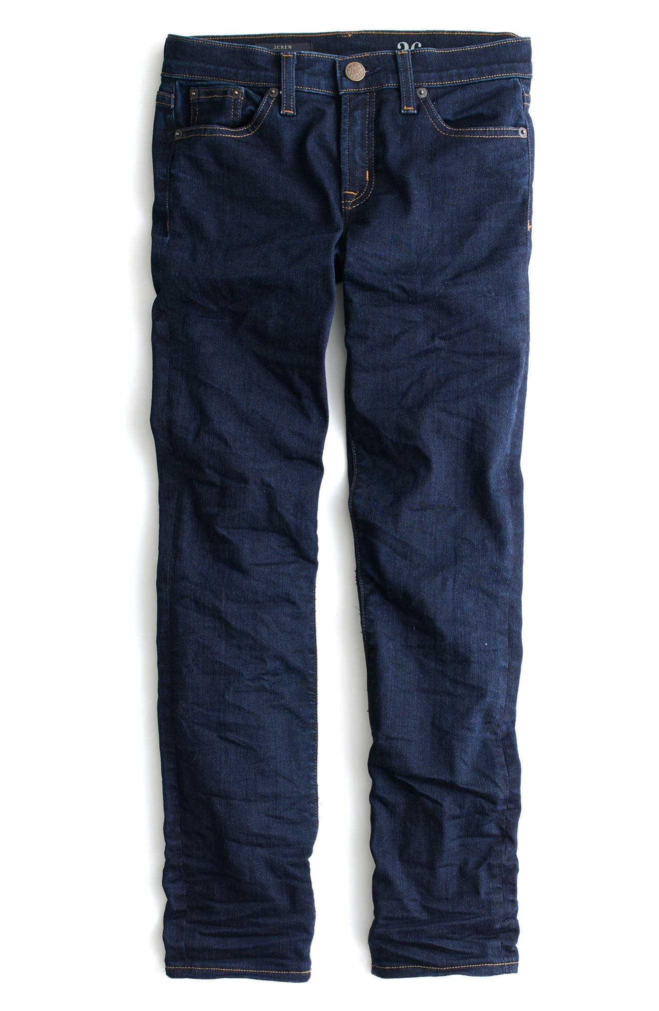 Toothpick Crop Skinny Jeans,                             Alternate thumbnail 4, color,