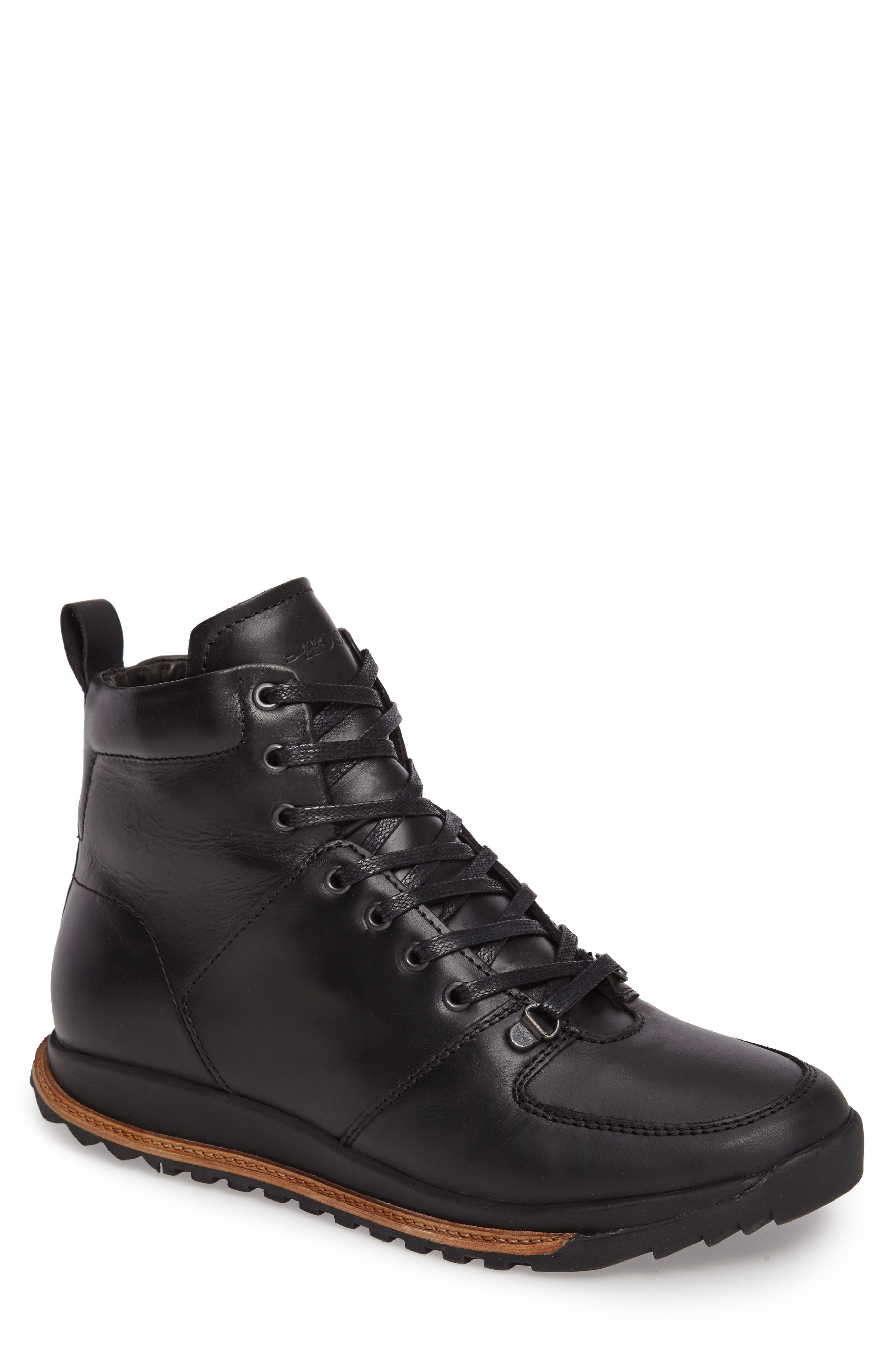 Concord Mid Top Wool Cuffed Waterproof Boot,                             Main thumbnail 1, color,                             001