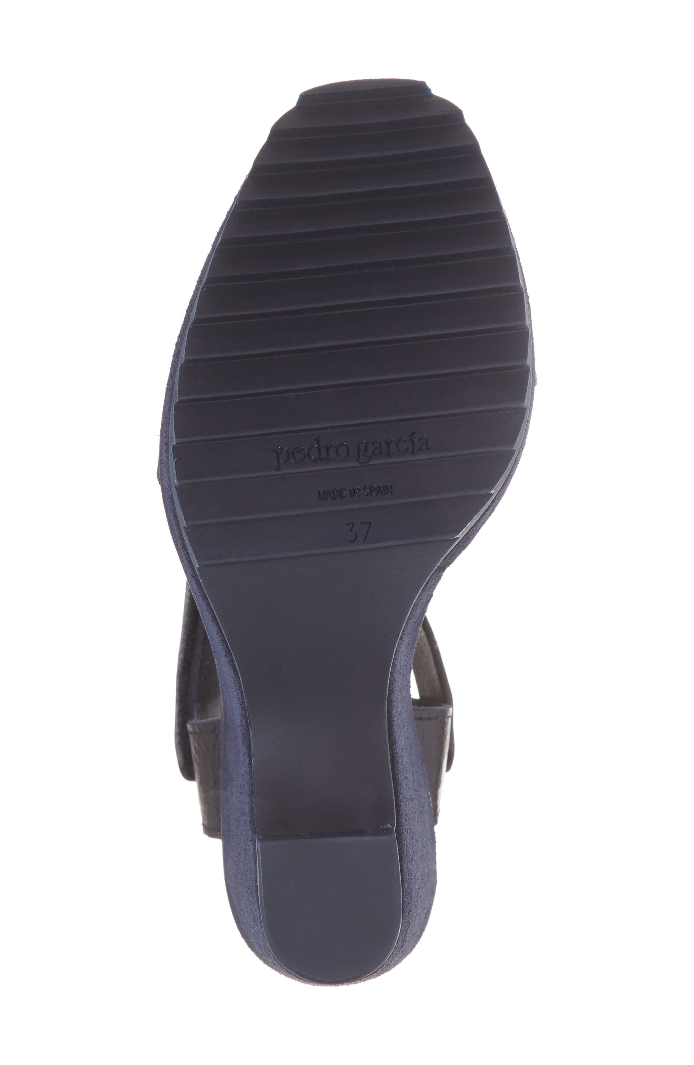 Vida Platform Wedge Sandal,                             Alternate thumbnail 6, color,                             MARINA