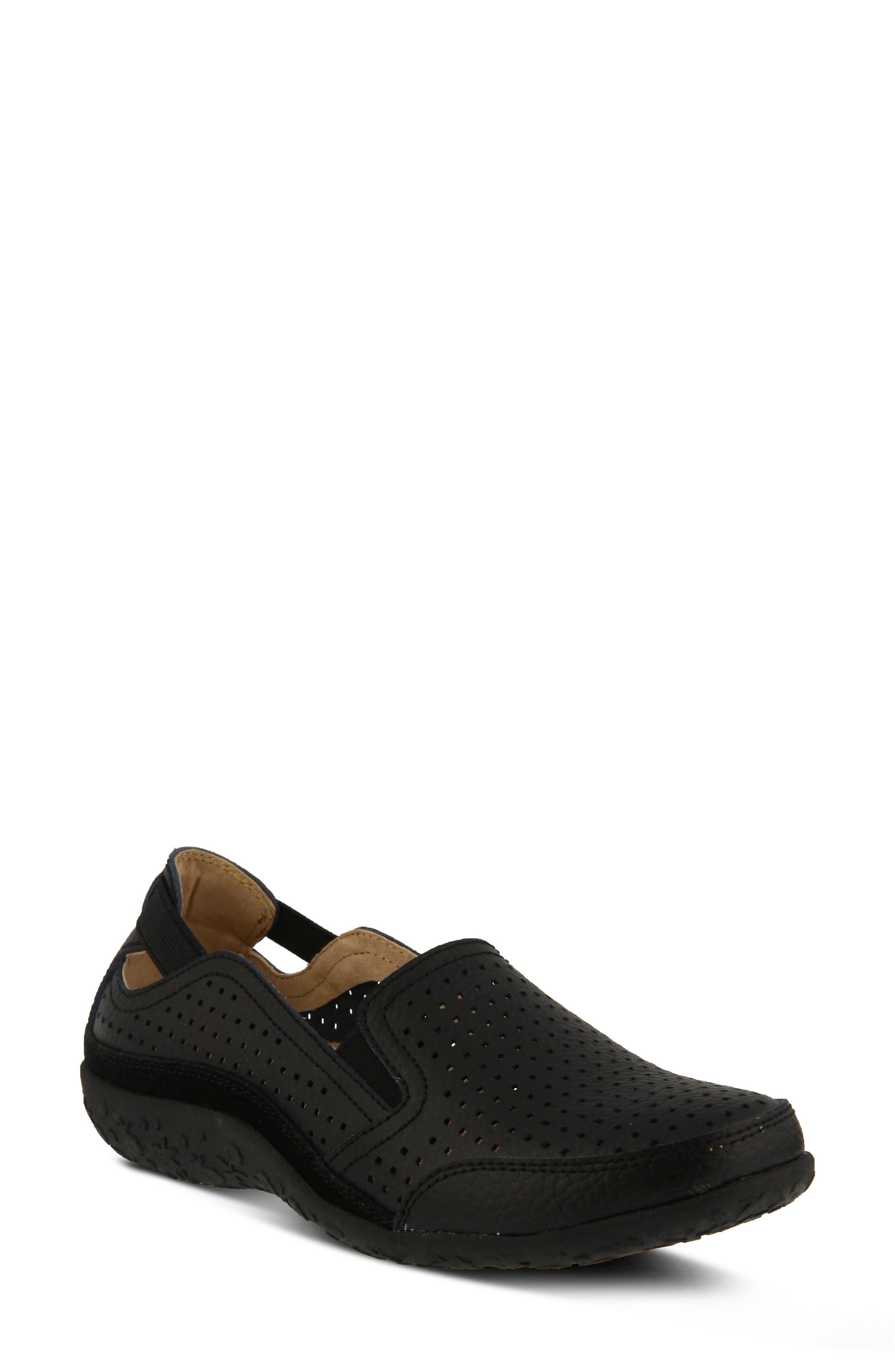 Juhi Loafer,                         Main,                         color, BLACK LEATHER