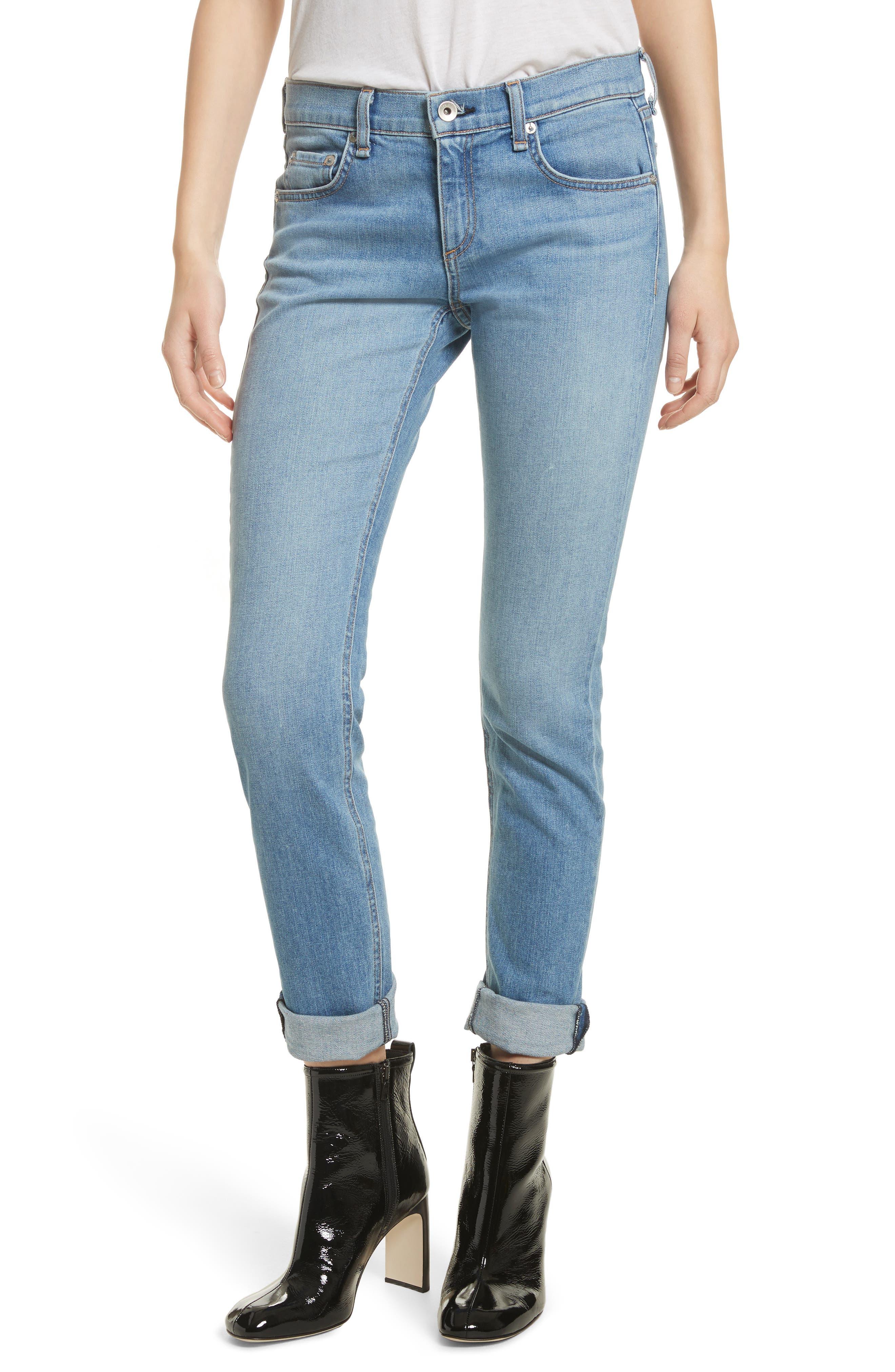 The Dre Released Hem Slim Boyfriend Jeans,                         Main,                         color, 420
