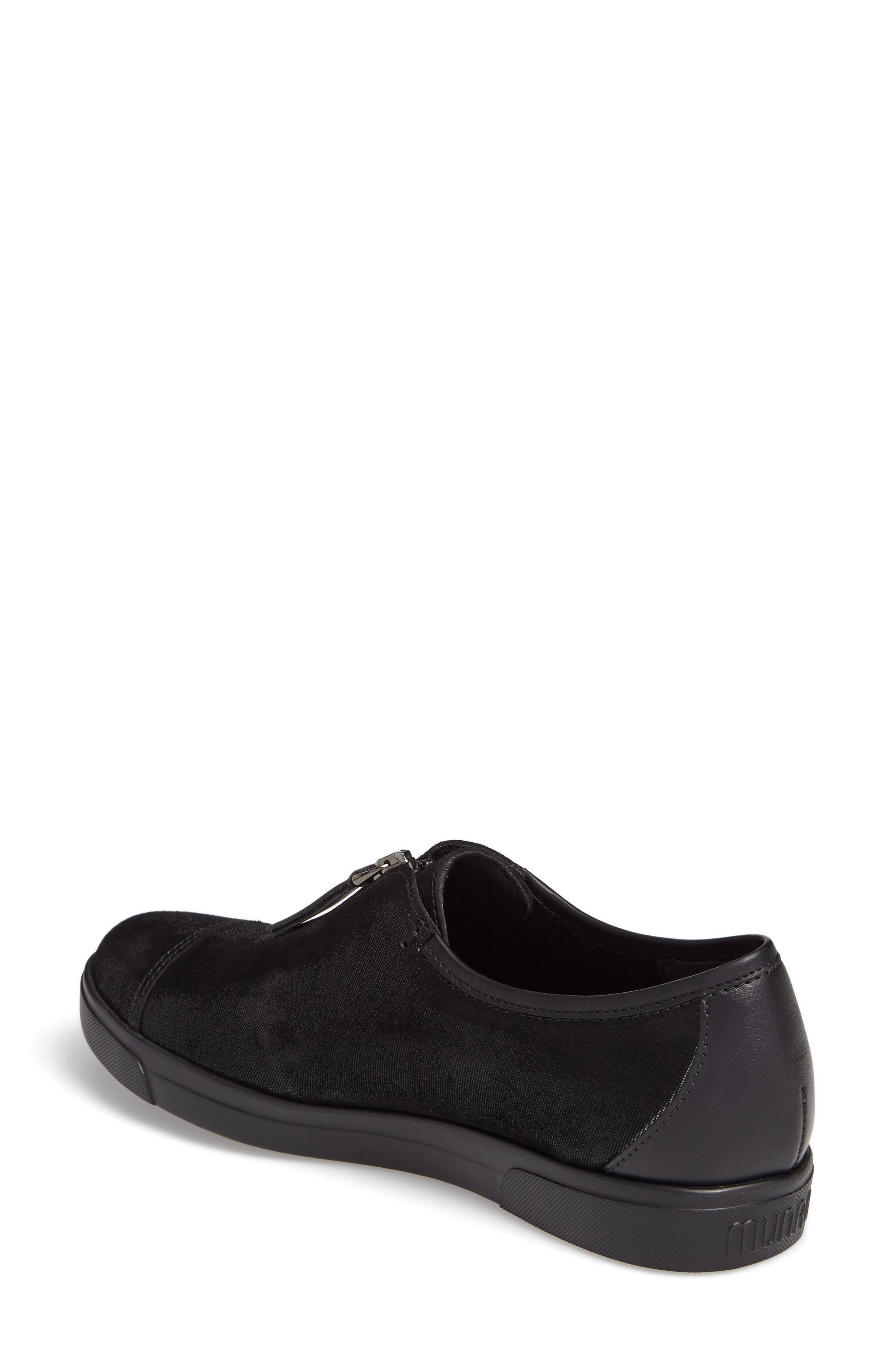 Roslyn Zip Sneaker,                             Alternate thumbnail 2, color,                             001