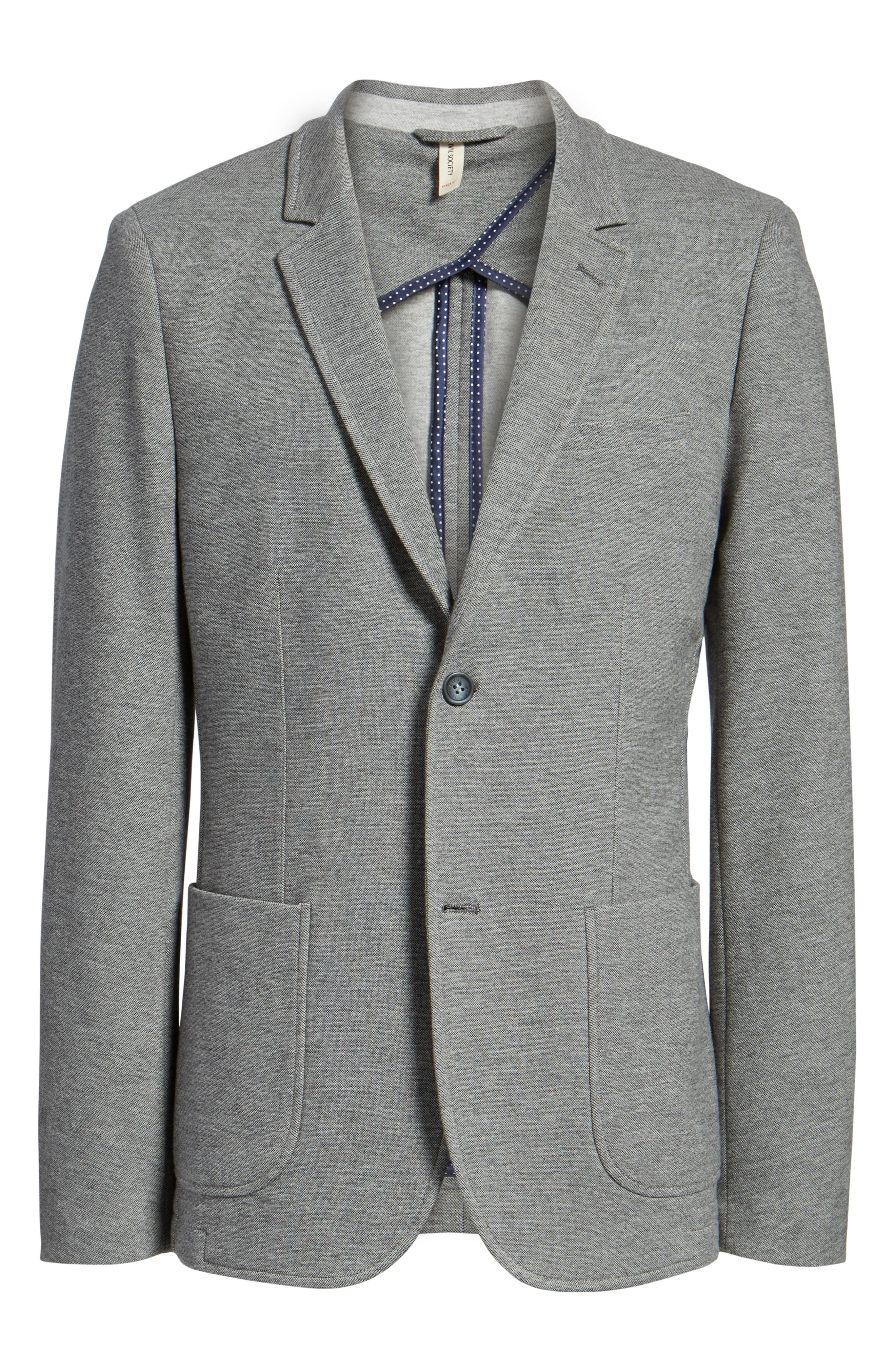 Thompson Knit Blazer,                             Alternate thumbnail 5, color,                             023