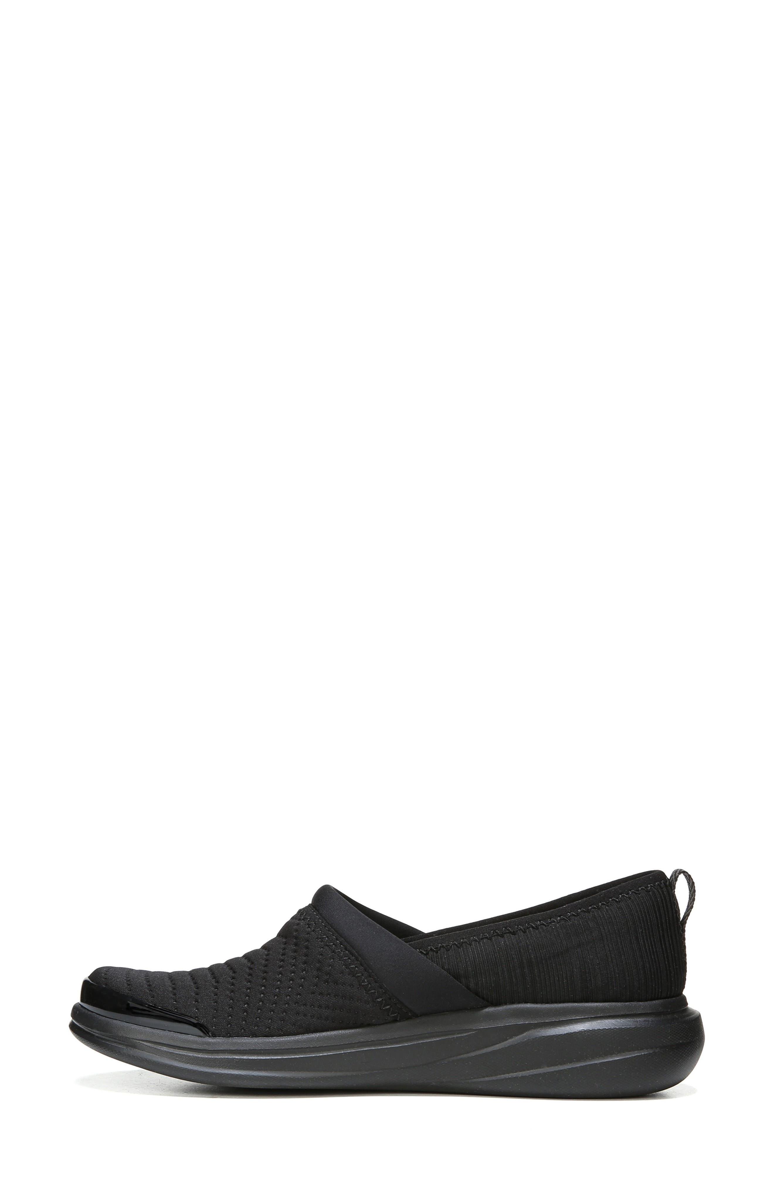 Coco Slip-On Sneaker,                             Alternate thumbnail 3, color,                             BLACK FABRIC