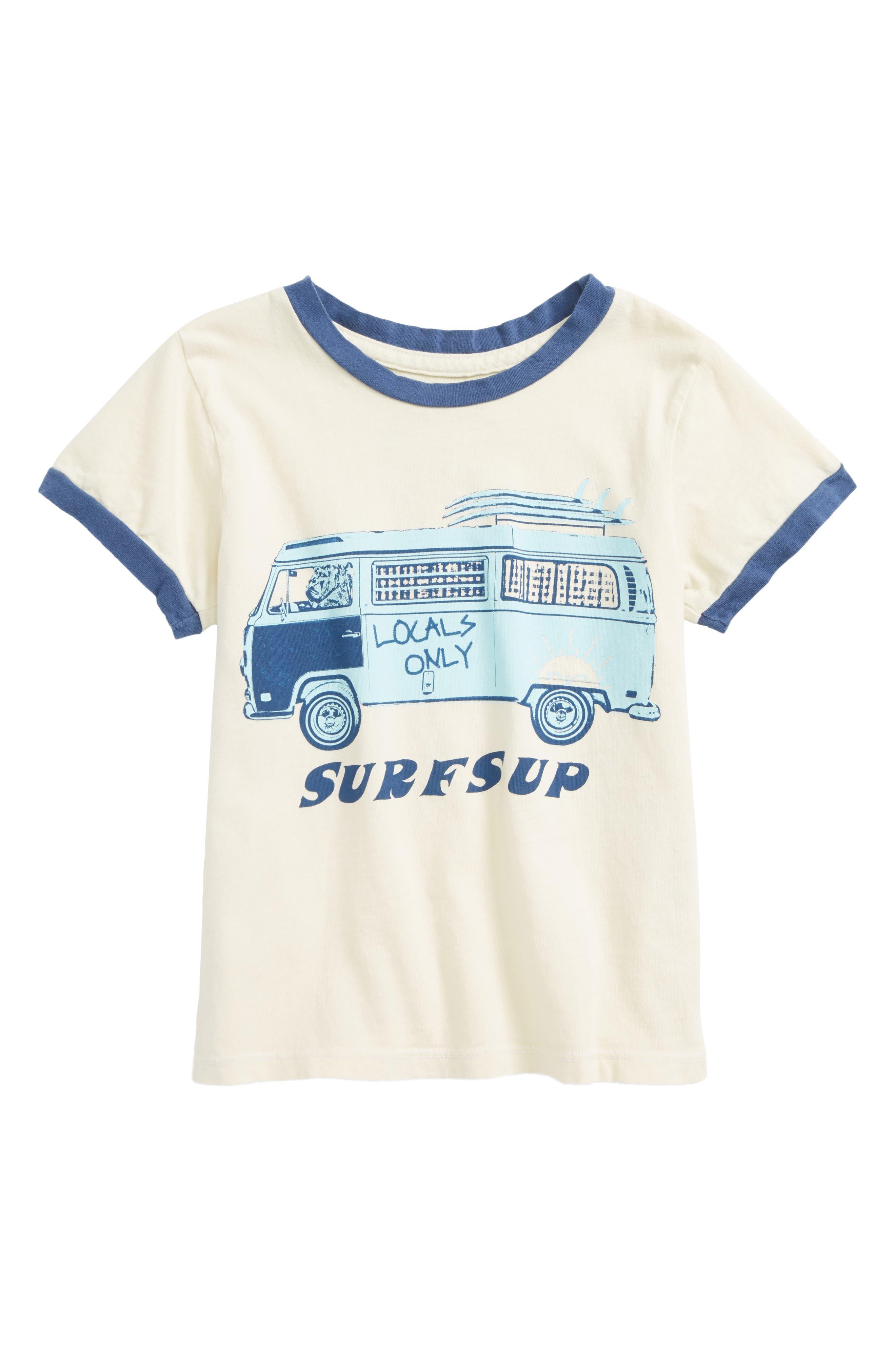 Surfs Up Ringer T-Shirt,                             Main thumbnail 1, color,                             900