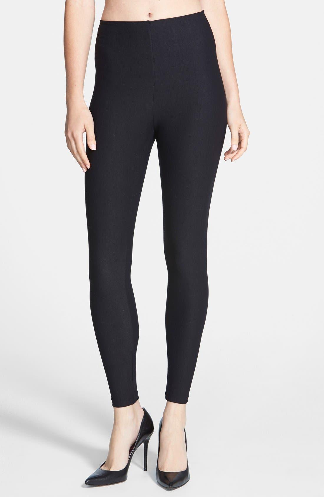 Control Top Leggings,                         Main,                         color, BLACK