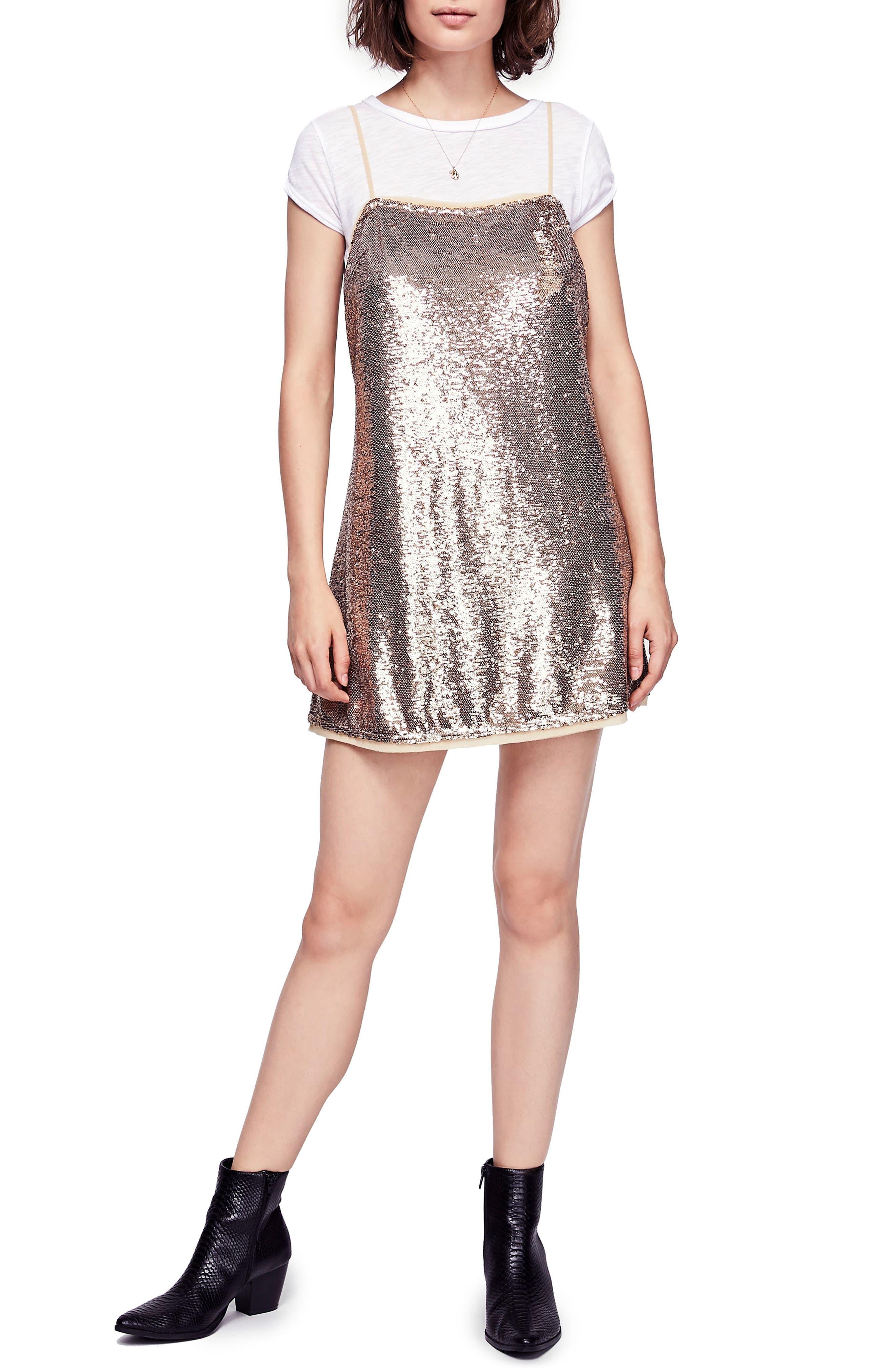 Time to Shine Sequin Slipdress,                             Main thumbnail 1, color,                             710