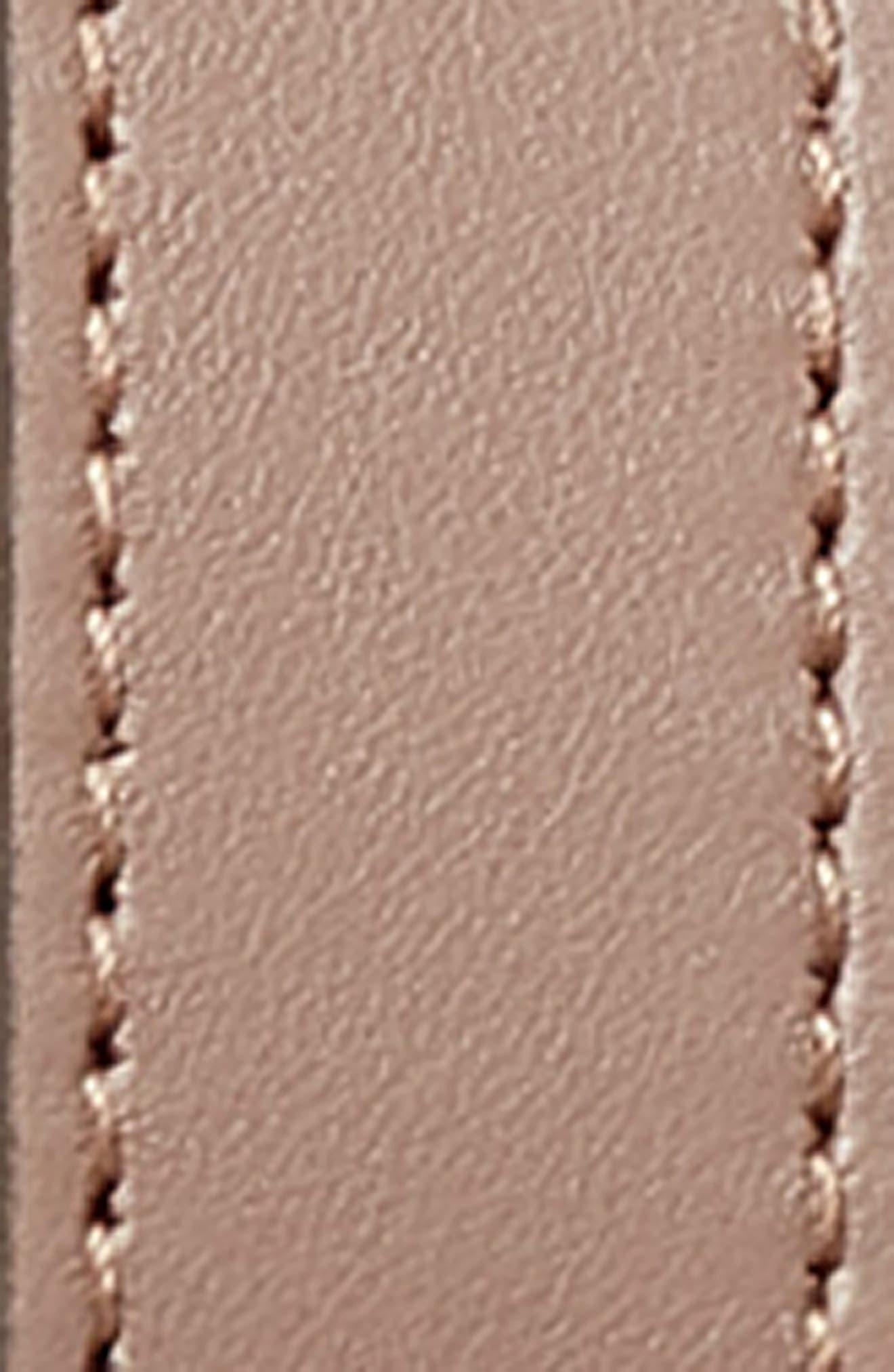 Calfskin Leather Skinny Belt,                             Alternate thumbnail 3, color,                             PORCELAIN ROSE/ CREAM
