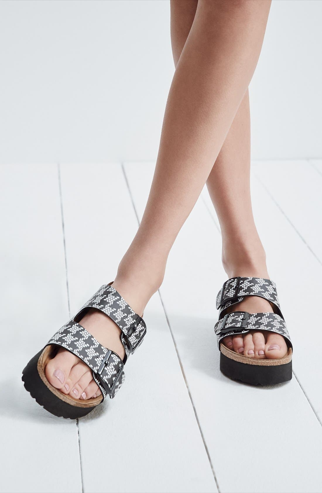 Papillio by Birkenstock 'Arizona - Birko-Flor' Platform Sandal,                             Main thumbnail 1, color,                             040