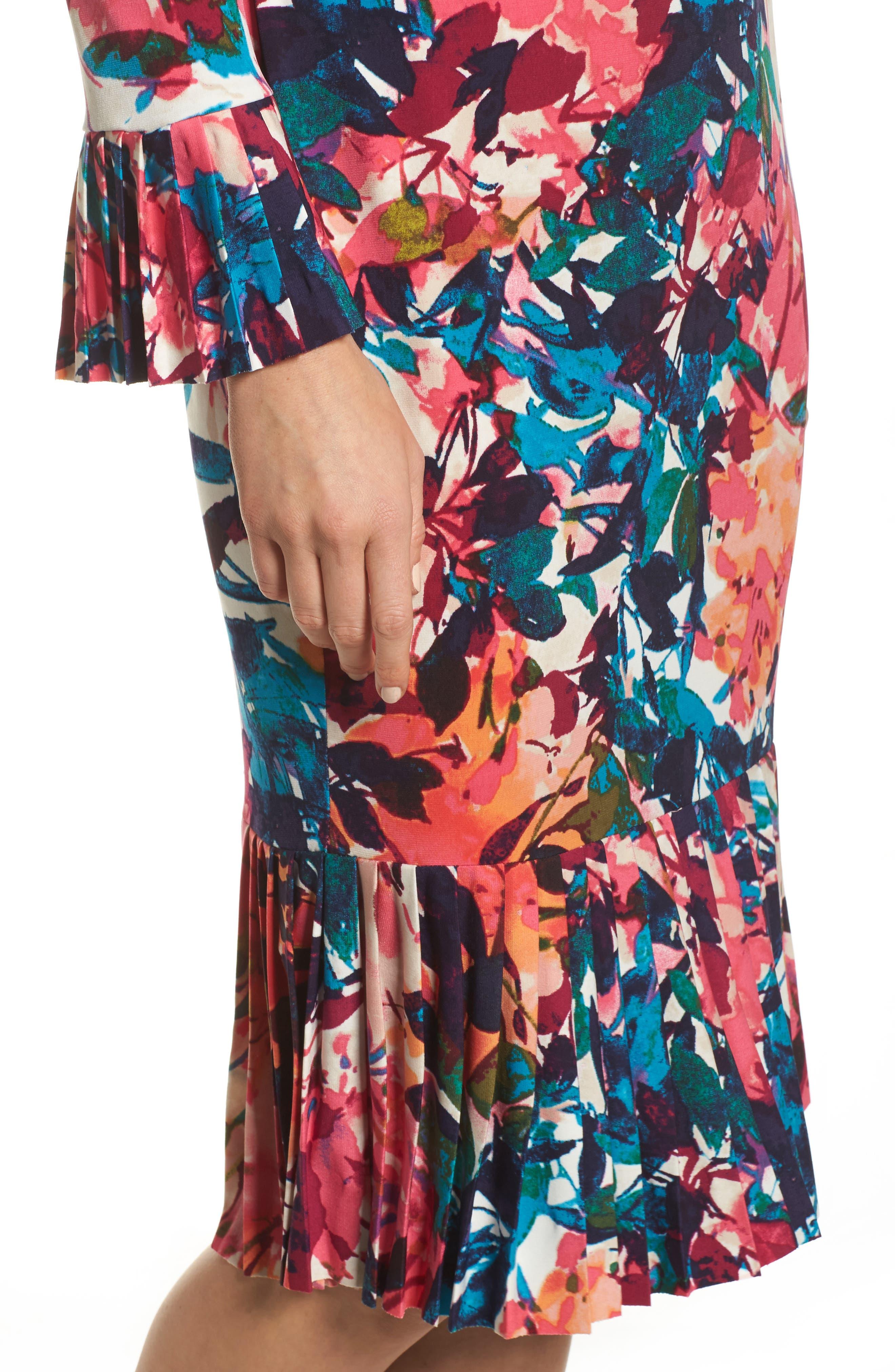 Midi Sheath Dress,                             Alternate thumbnail 4, color,                             692