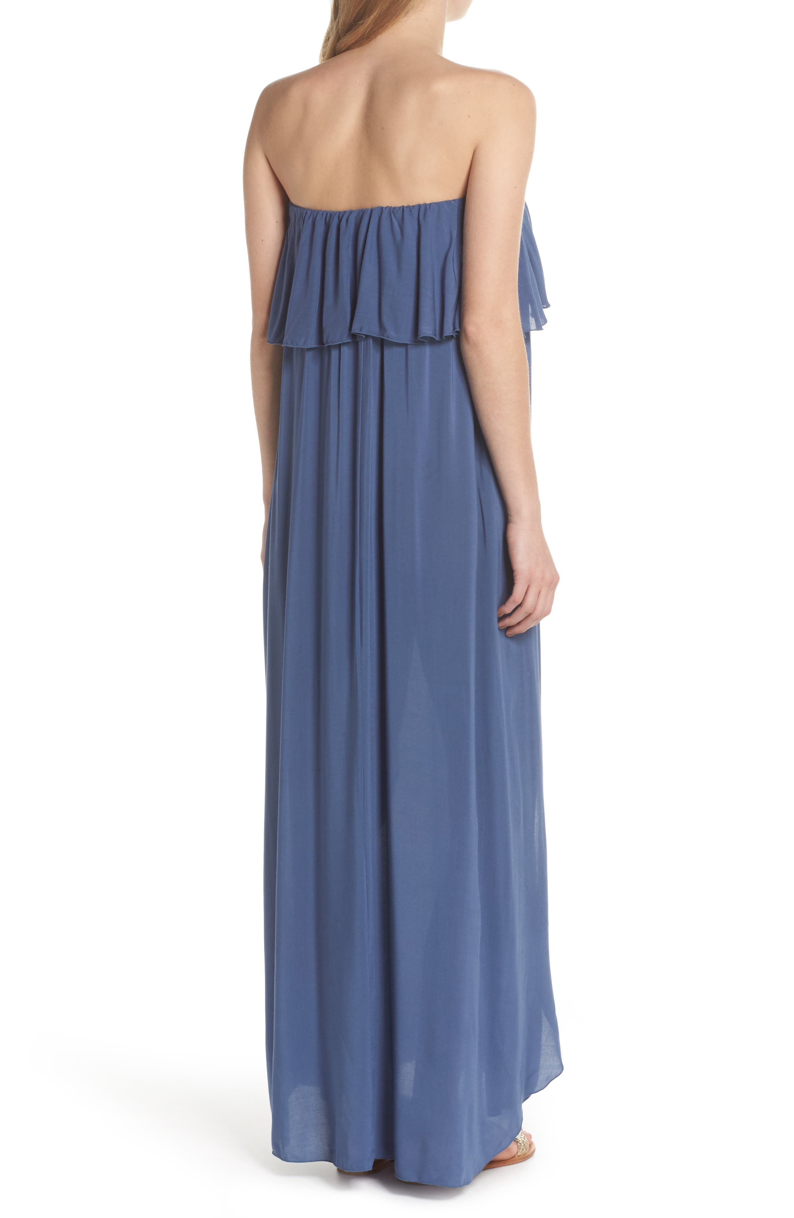 Strapless Maxi Cover-Up Dress,                             Alternate thumbnail 2, color,