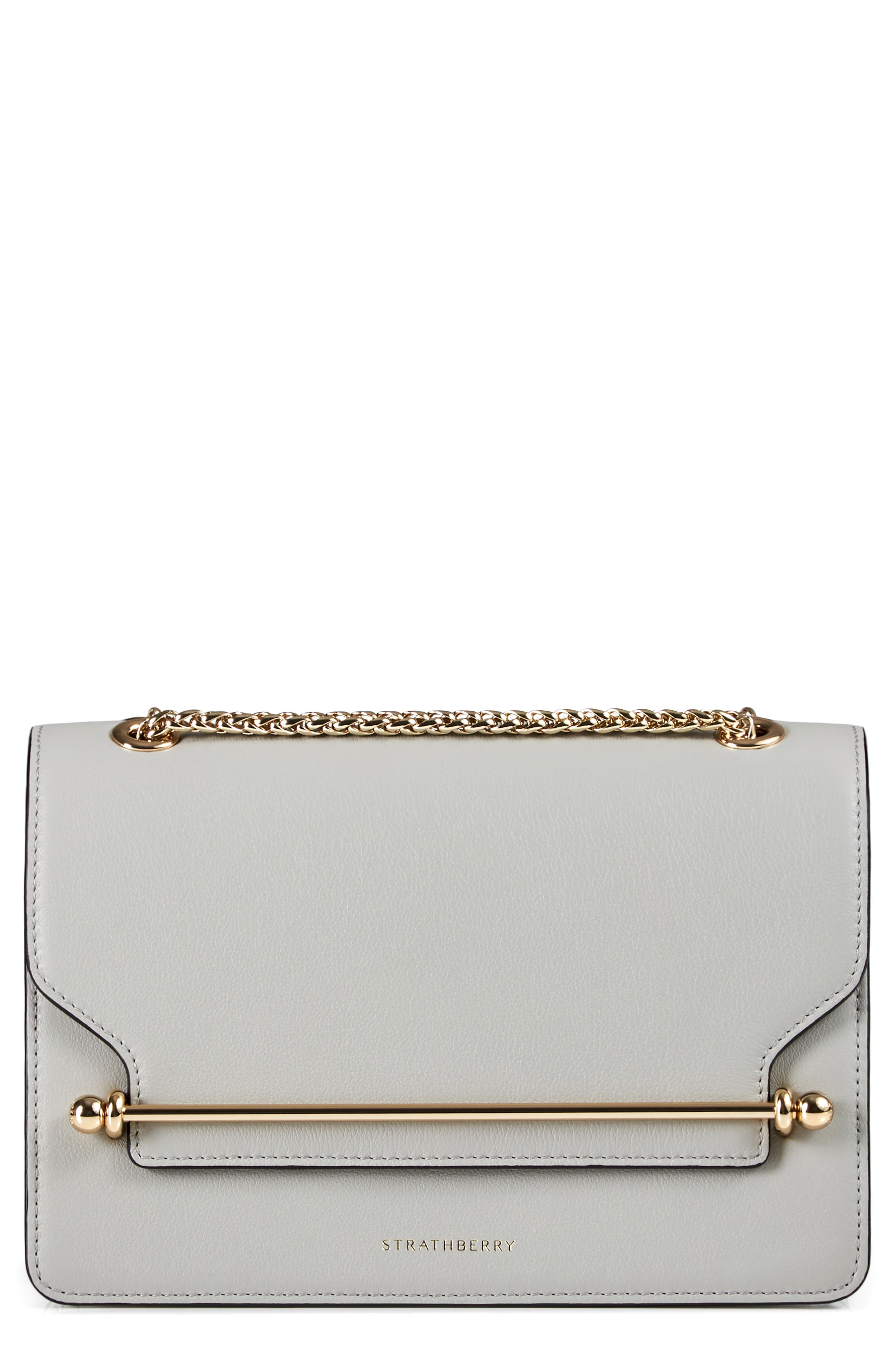 STRATHBERRY East/West Leather Crossbody Bag - Grey