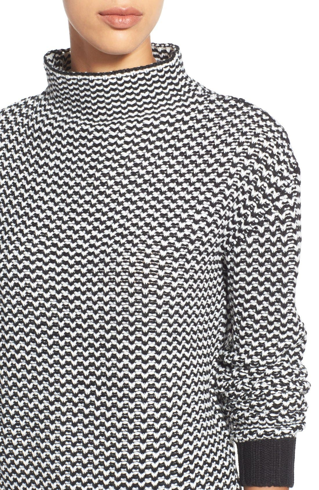 'Roller' Mock Neck Sweater,                             Main thumbnail 1, color,                             002