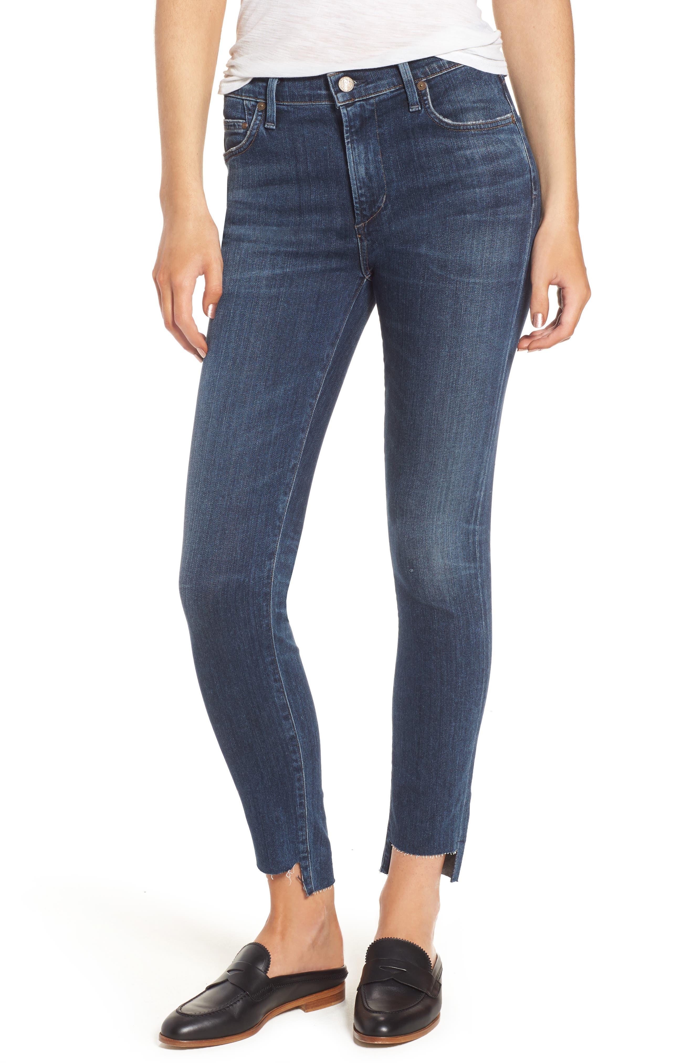 Rocket Step Hem Skinny Jeans,                         Main,                         color, 401