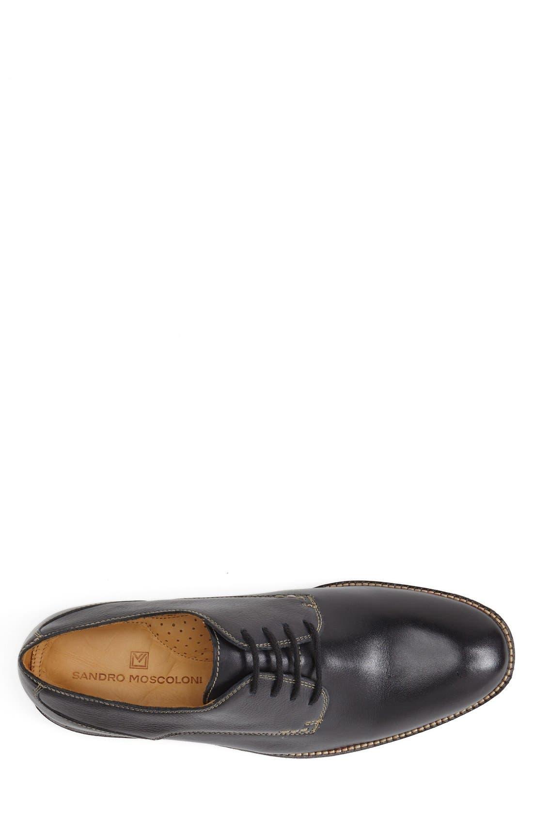 'Olsen' Plain Toe Derby,                             Alternate thumbnail 3, color,                             NAVY