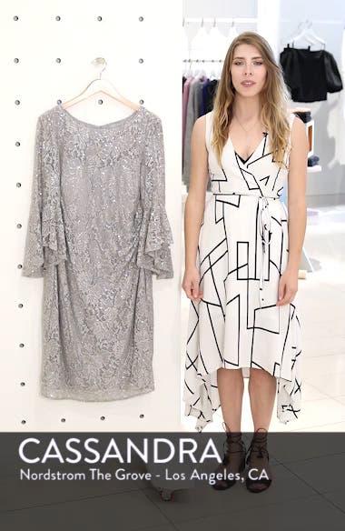 Bell Sleeve Lace Sheath Dress, sales video thumbnail