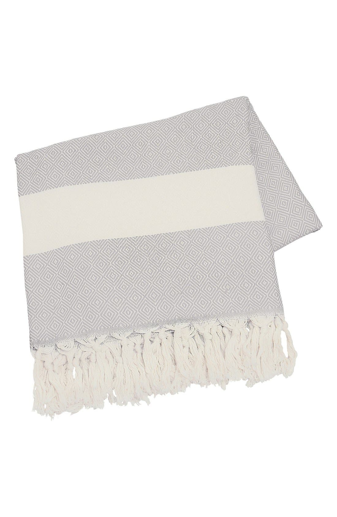 Monogram Turkish Cotton Throw,                             Main thumbnail 2, color,