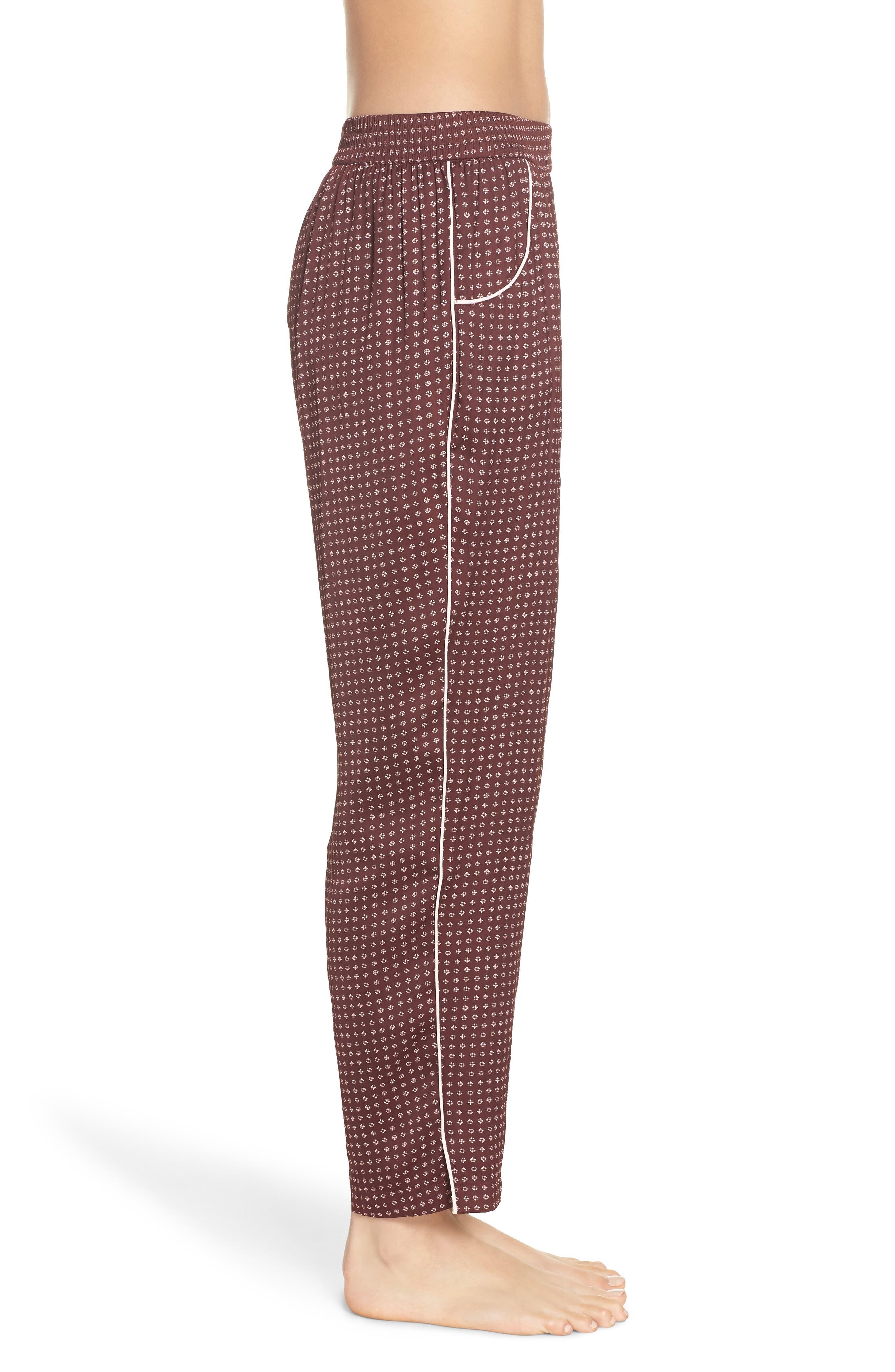 Satin Pajama Pants,                             Alternate thumbnail 4, color,                             610
