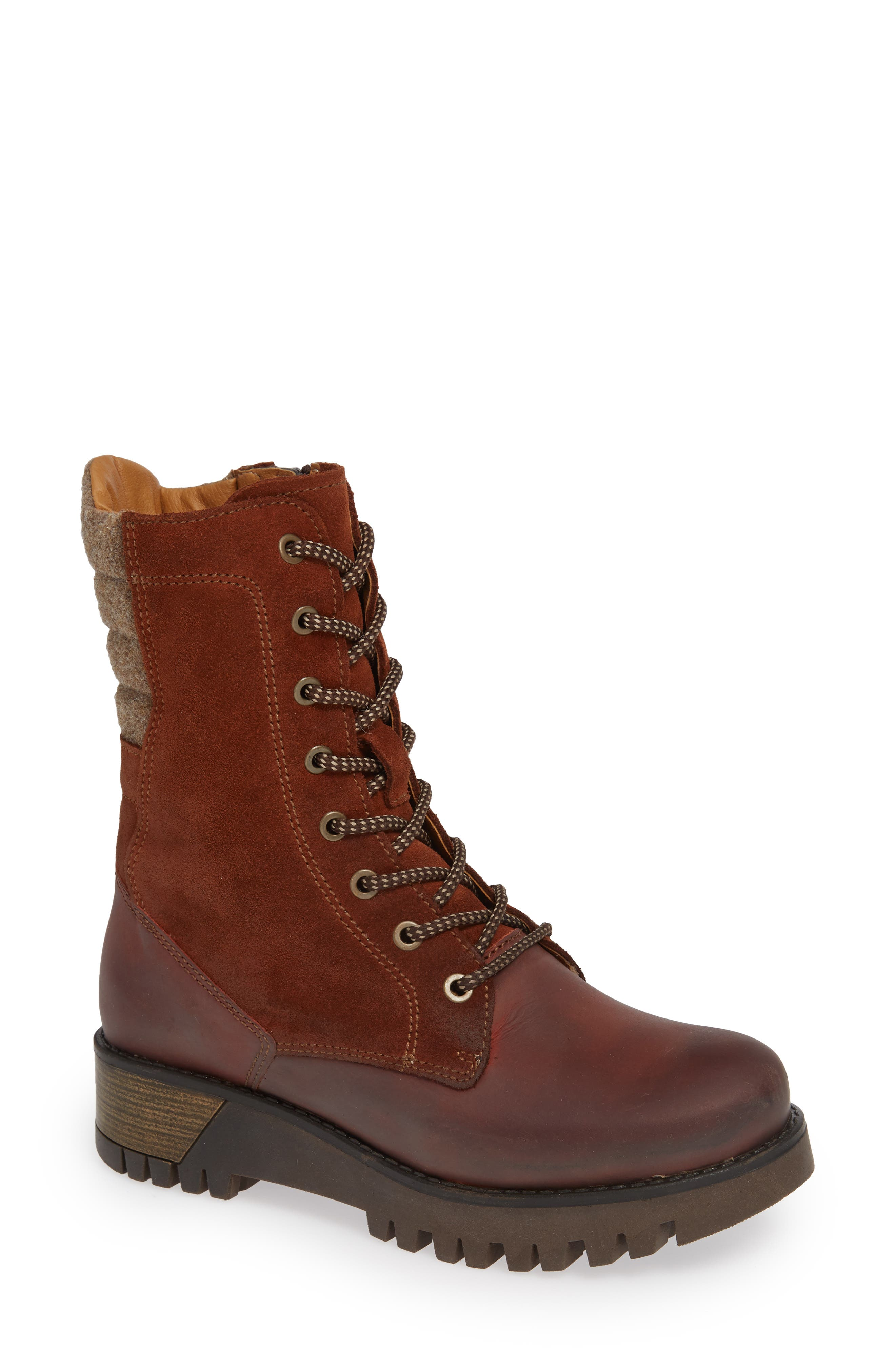 BOS. & CO. Guide Waterproof & Insulated Hiking Boot, Main, color, RUST SUEDE