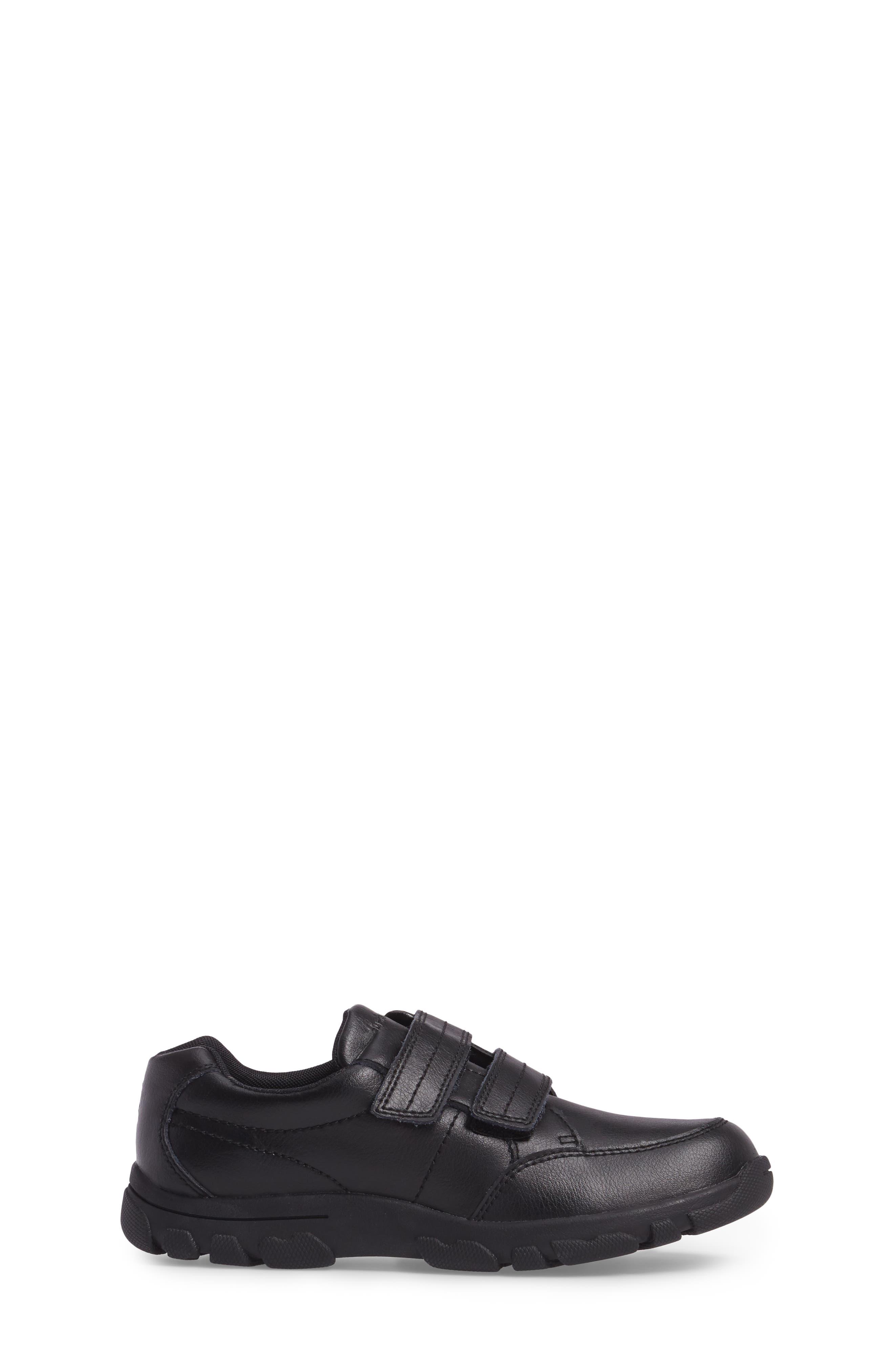 Jace Dress Sneaker,                             Alternate thumbnail 3, color,                             BLACK LEATHER