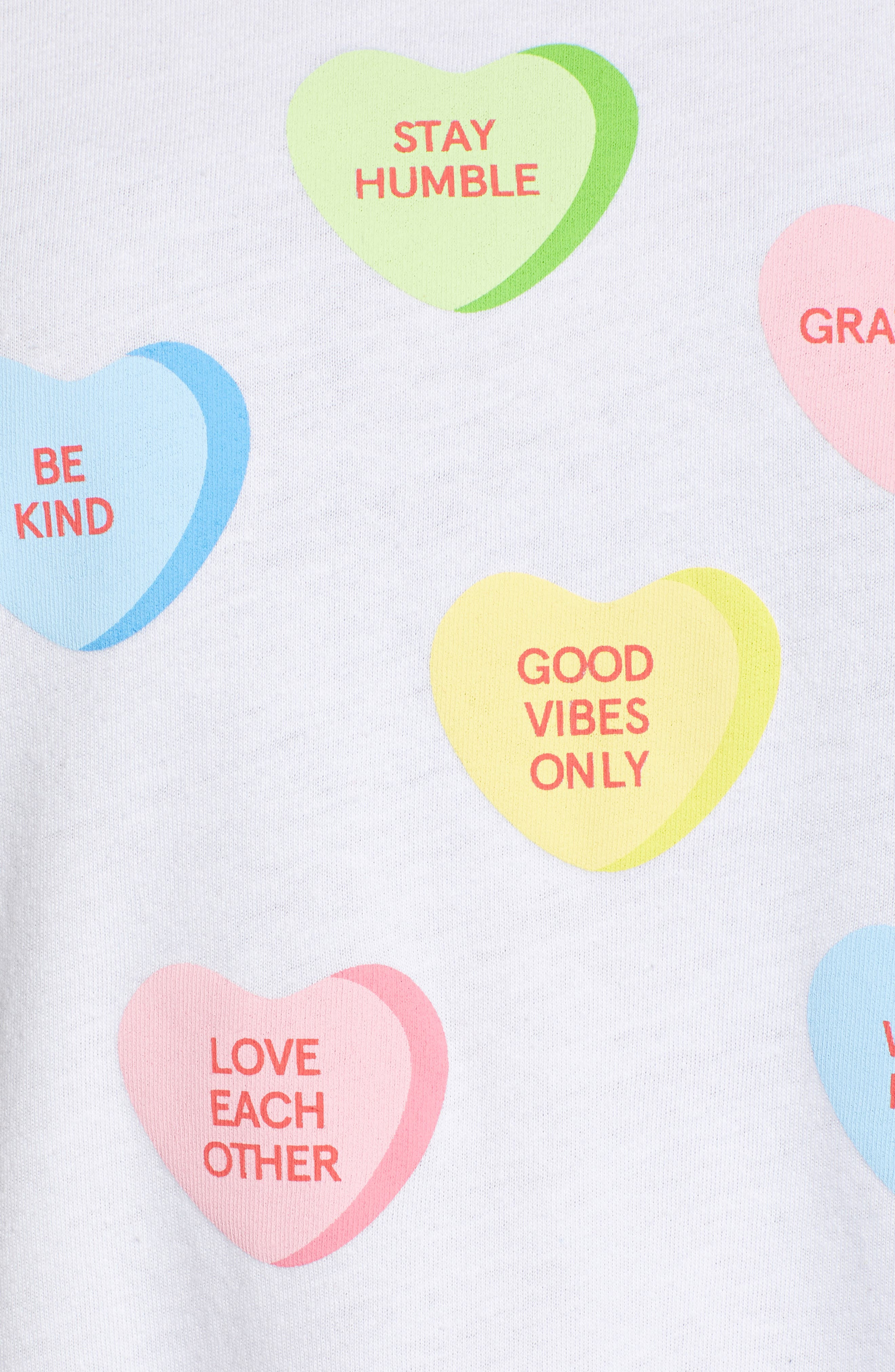 SUB_URBAN RIOT,                             Candy Hearts Slouch Tee,                             Alternate thumbnail 5, color,                             100