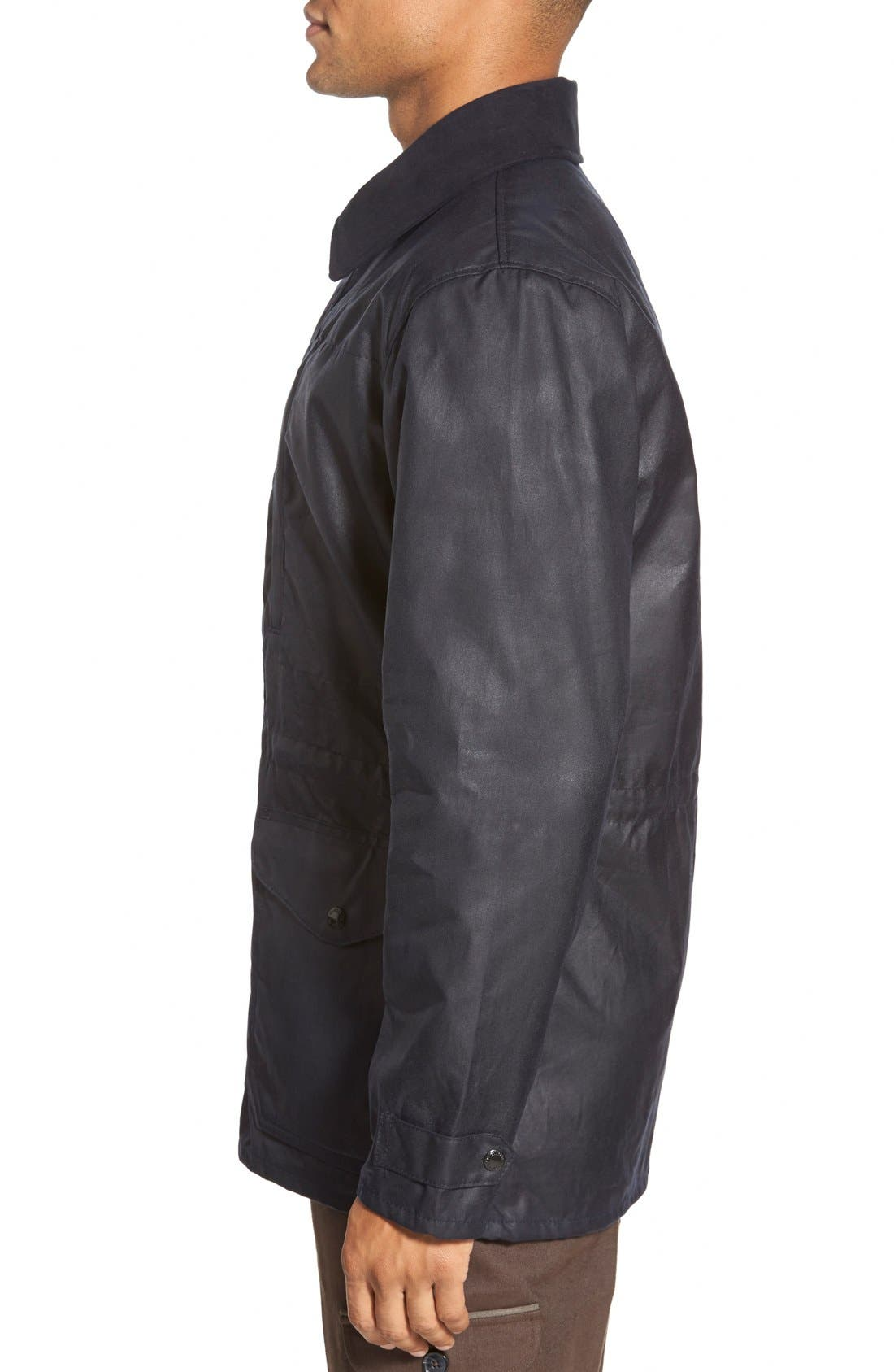 'Cover Cloth Mile Marker' Waxed Cotton Coat,                             Alternate thumbnail 9, color,