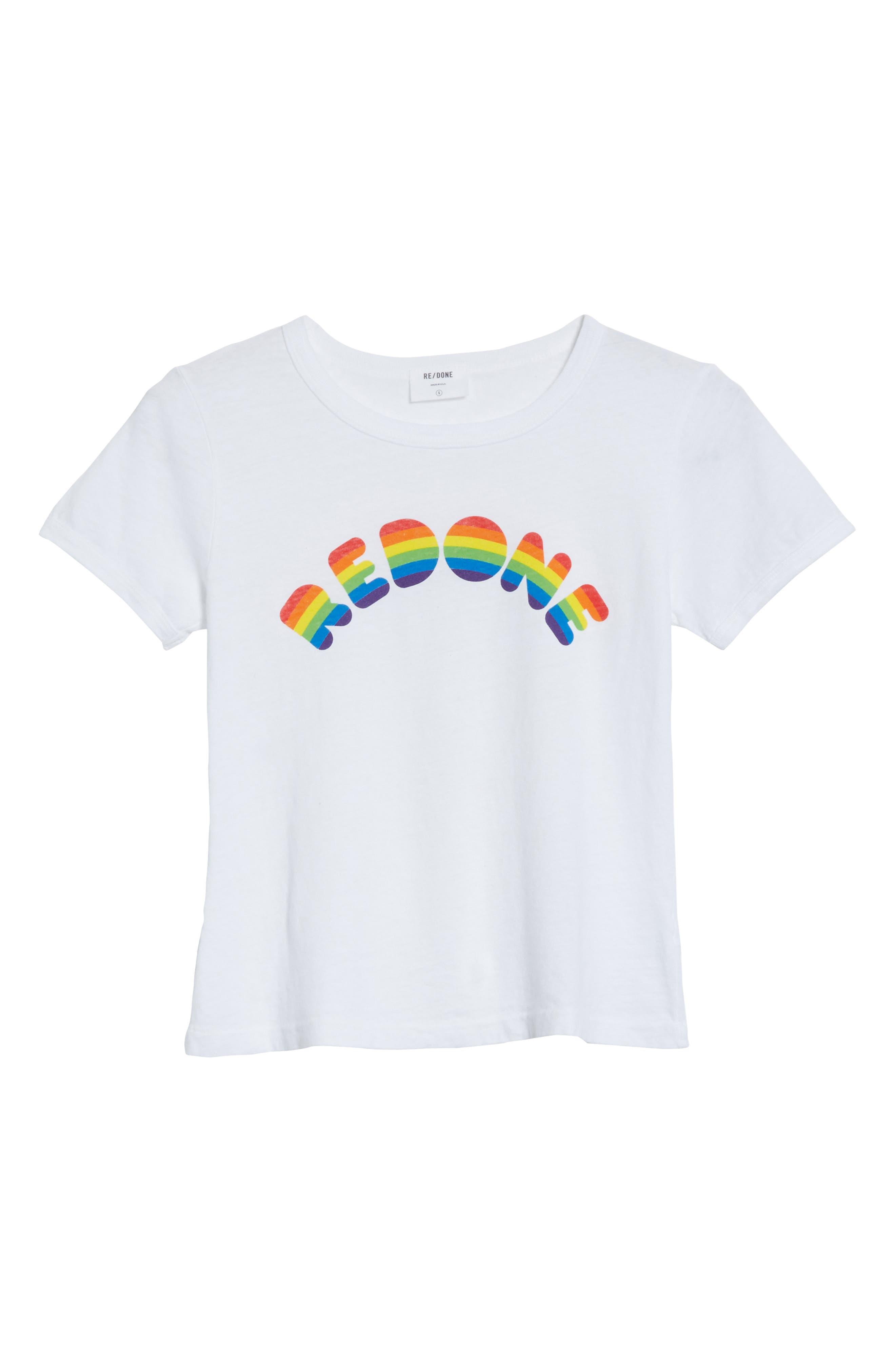 Rainbow Graphic Tee,                             Alternate thumbnail 6, color,                             100