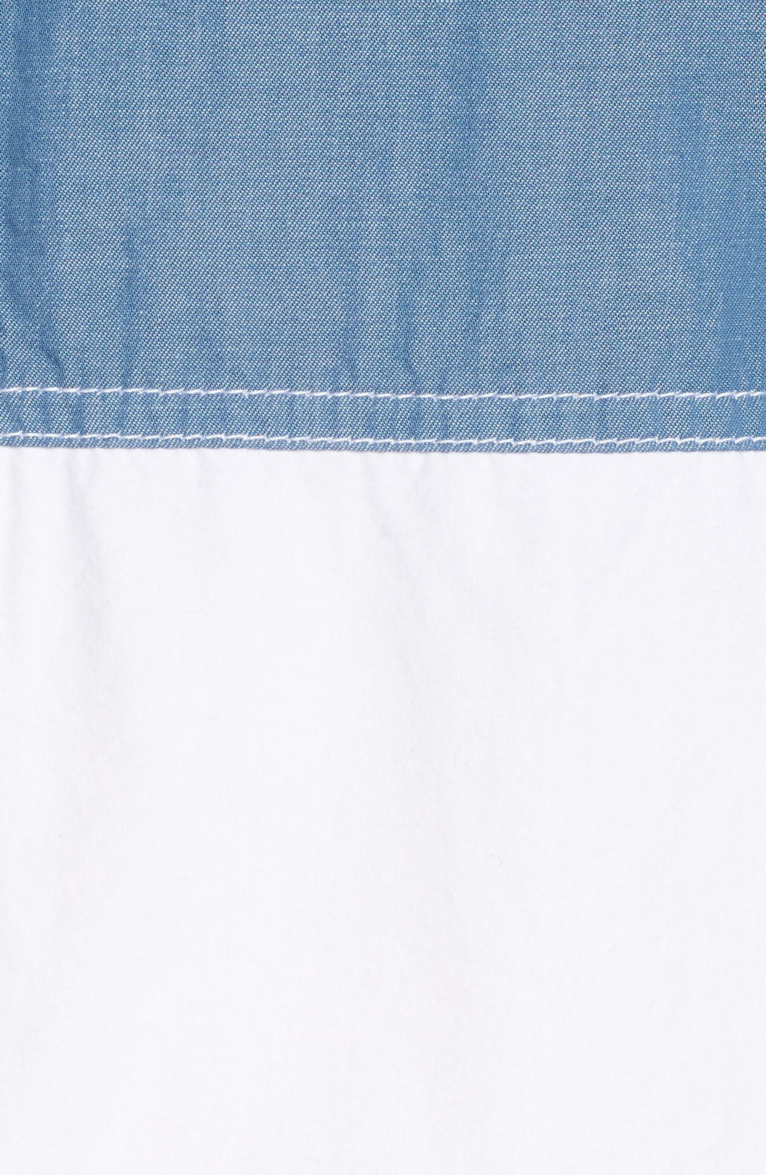 Colorblock Woven Shirt,                             Alternate thumbnail 5, color,