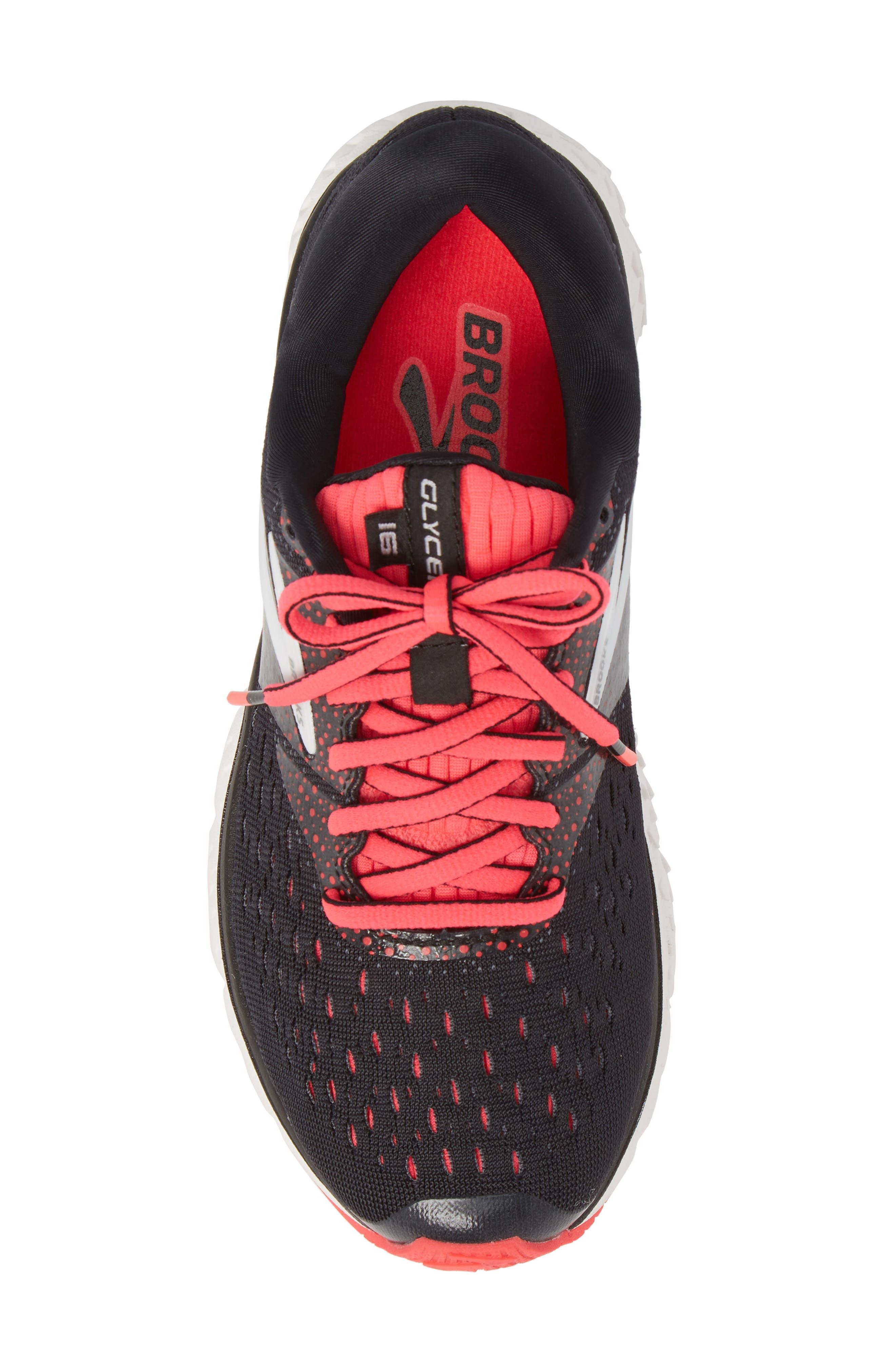 Glycerin 16 Running Shoe,                             Alternate thumbnail 5, color,                             BLACK/ PINK/ GREY