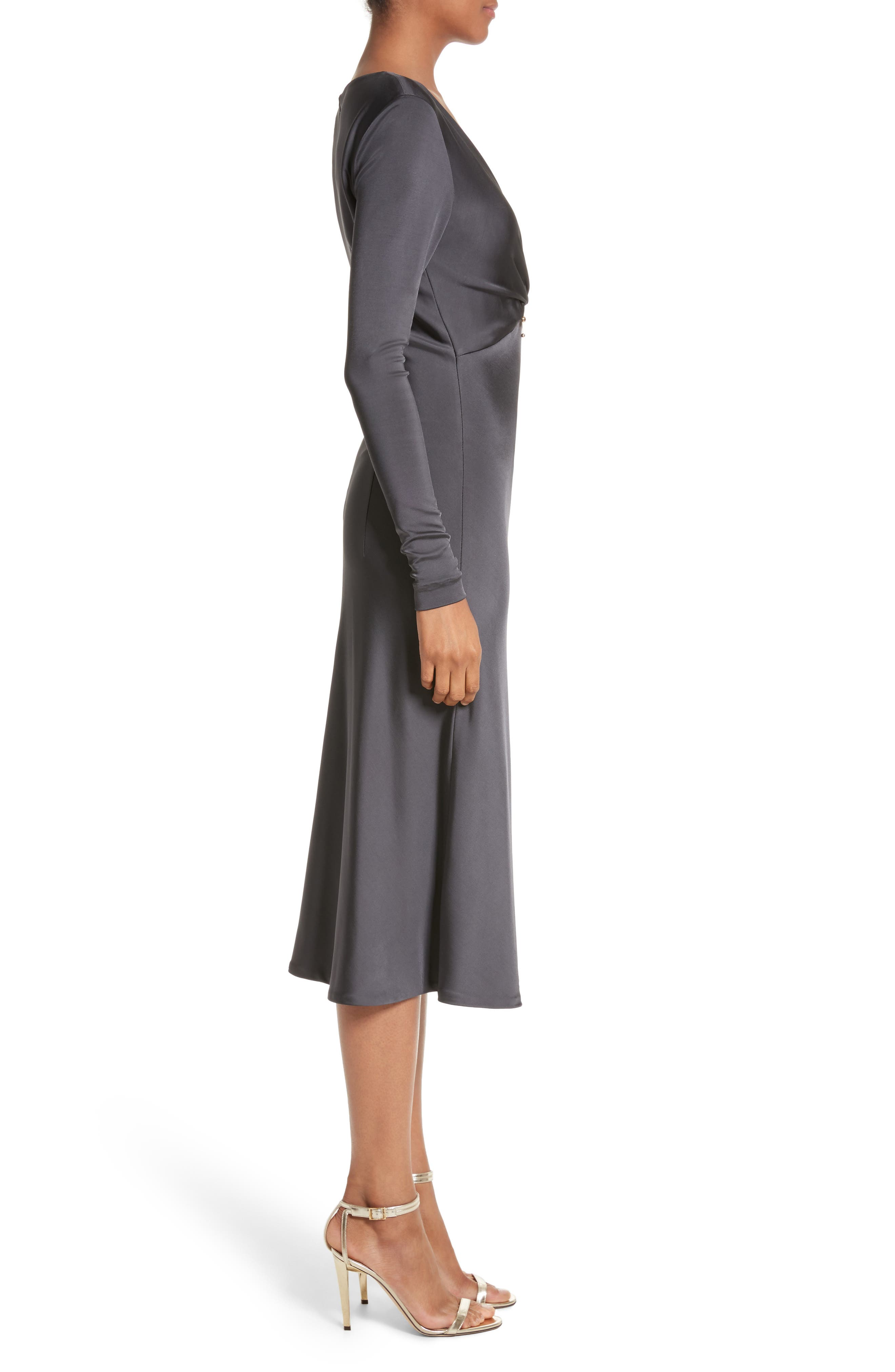 Magdelena Ring Detail Jersey Dress,                             Alternate thumbnail 3, color,                             002
