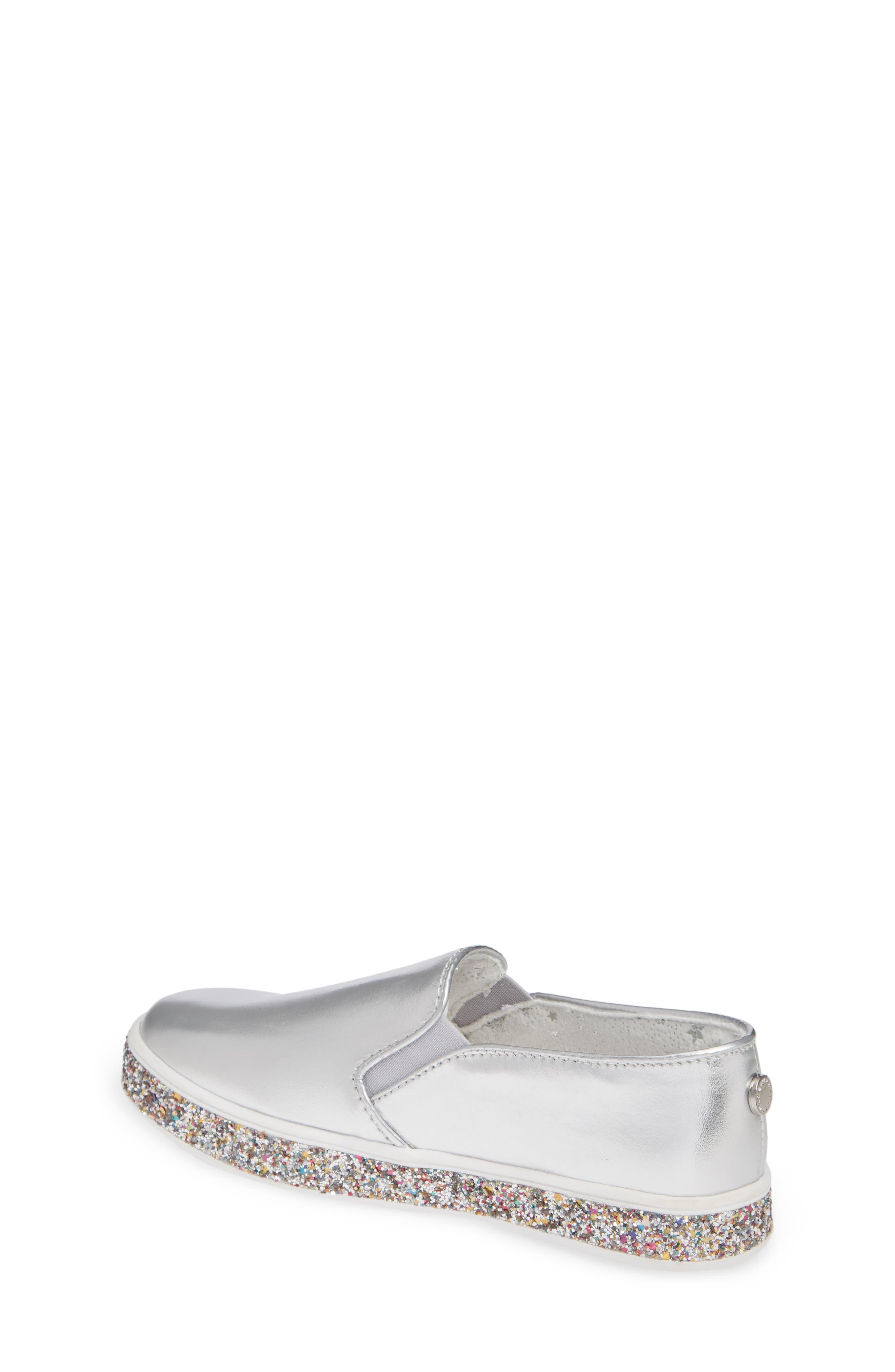 Jglorie Glitter Slip-On Sneaker,                             Alternate thumbnail 2, color,                             SILVER