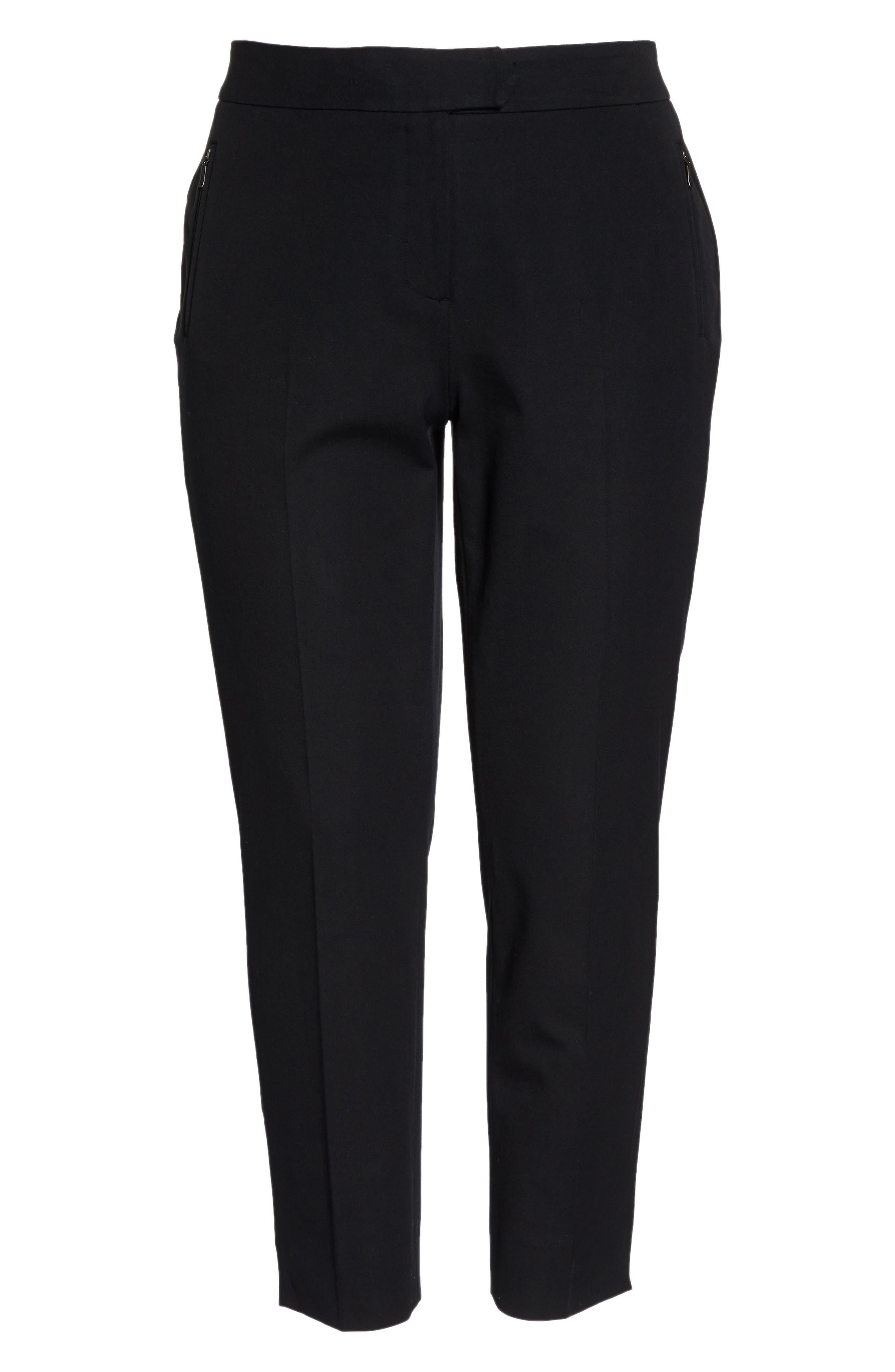 Zip Taper Pants,                             Alternate thumbnail 7, color,                             BLACK