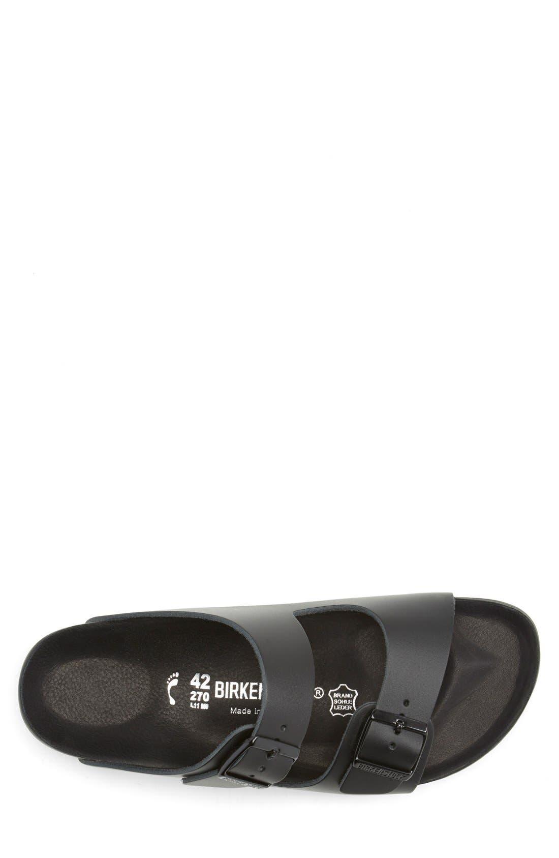 Monterey Leather Slide Sandal,                             Alternate thumbnail 4, color,                             001