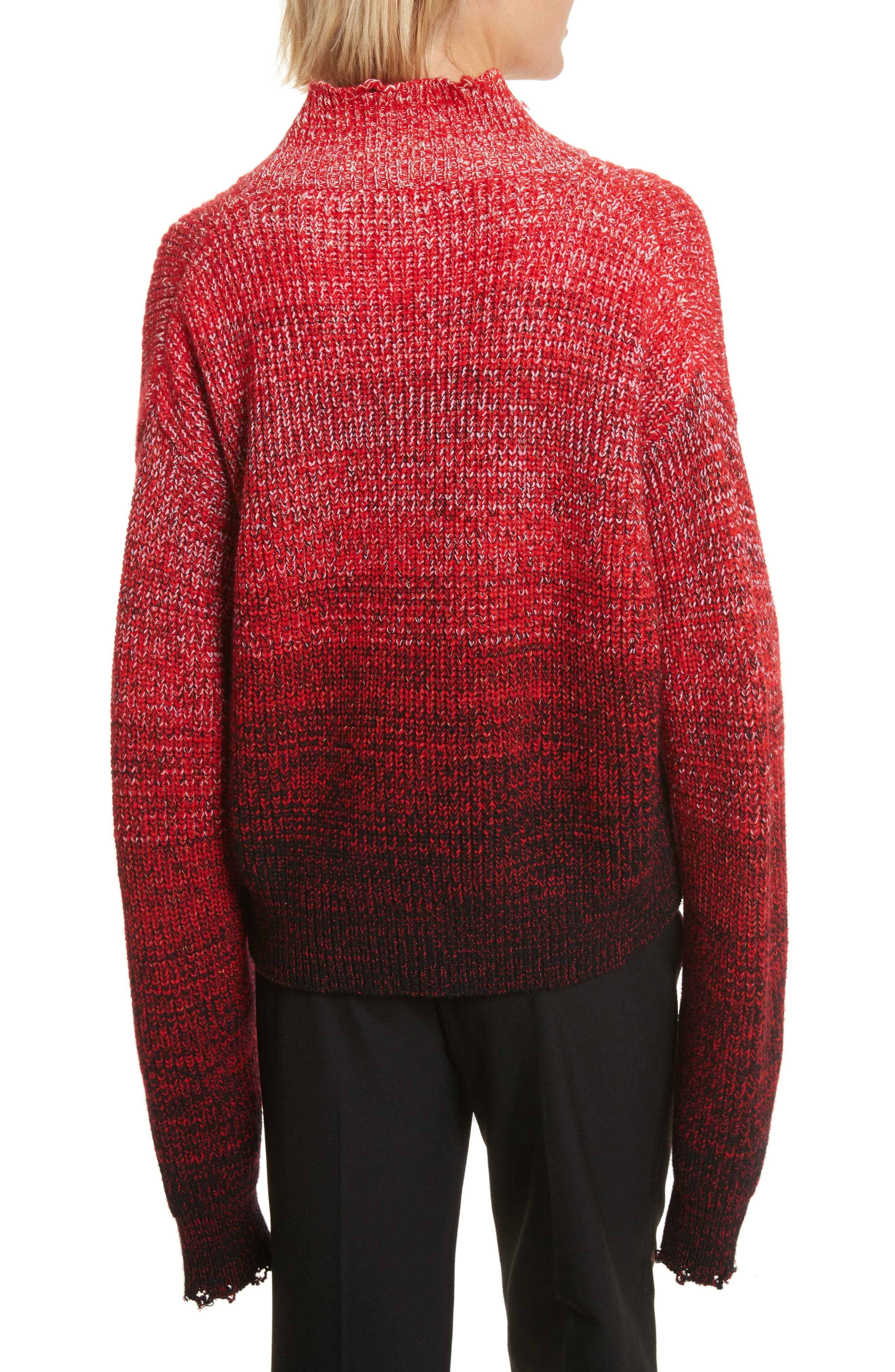 Distressed Marled Patchwork Turtleneck Sweater,                             Alternate thumbnail 2, color,                             641