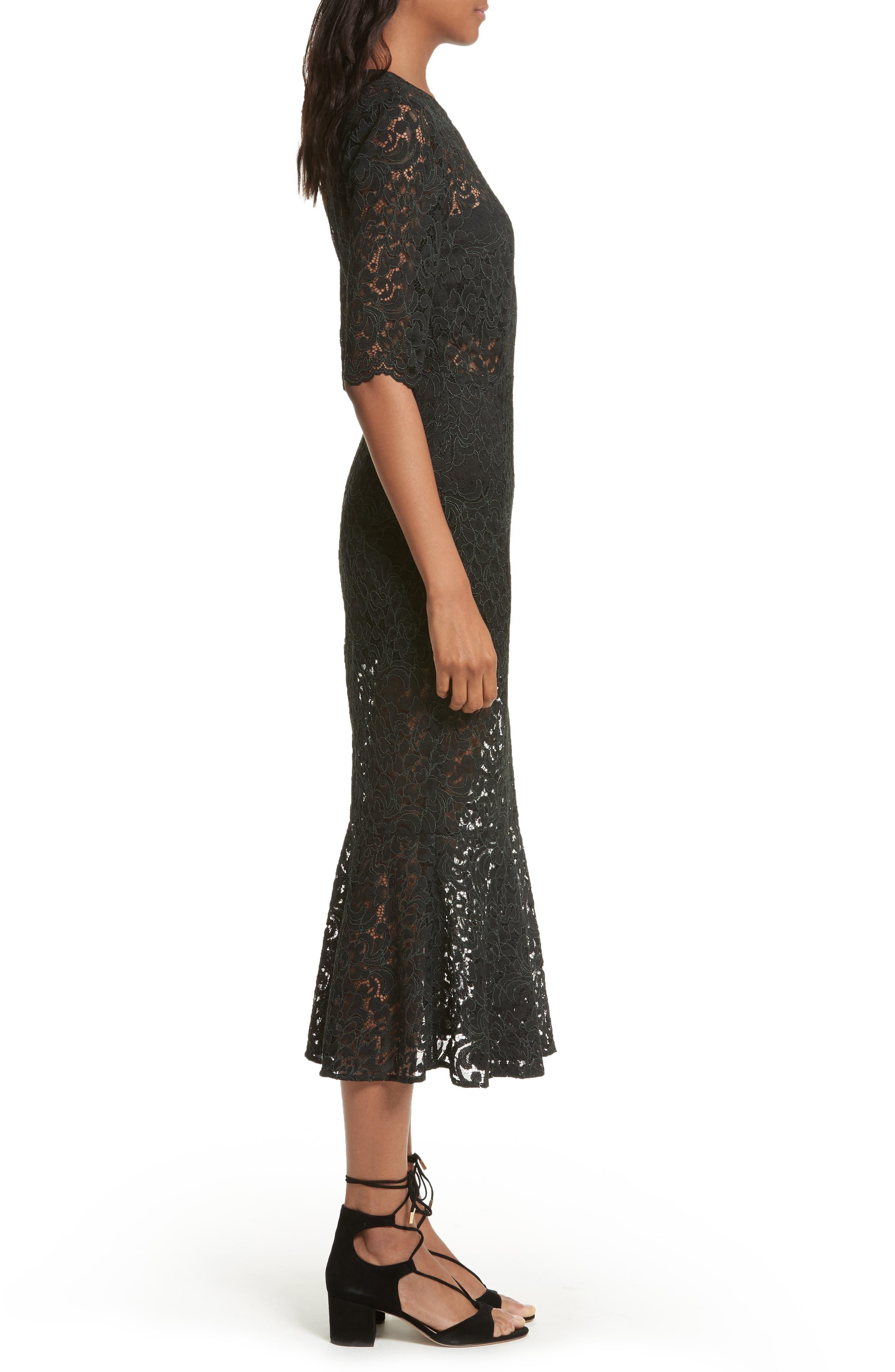Linden Lace Midi Dress,                             Alternate thumbnail 3, color,