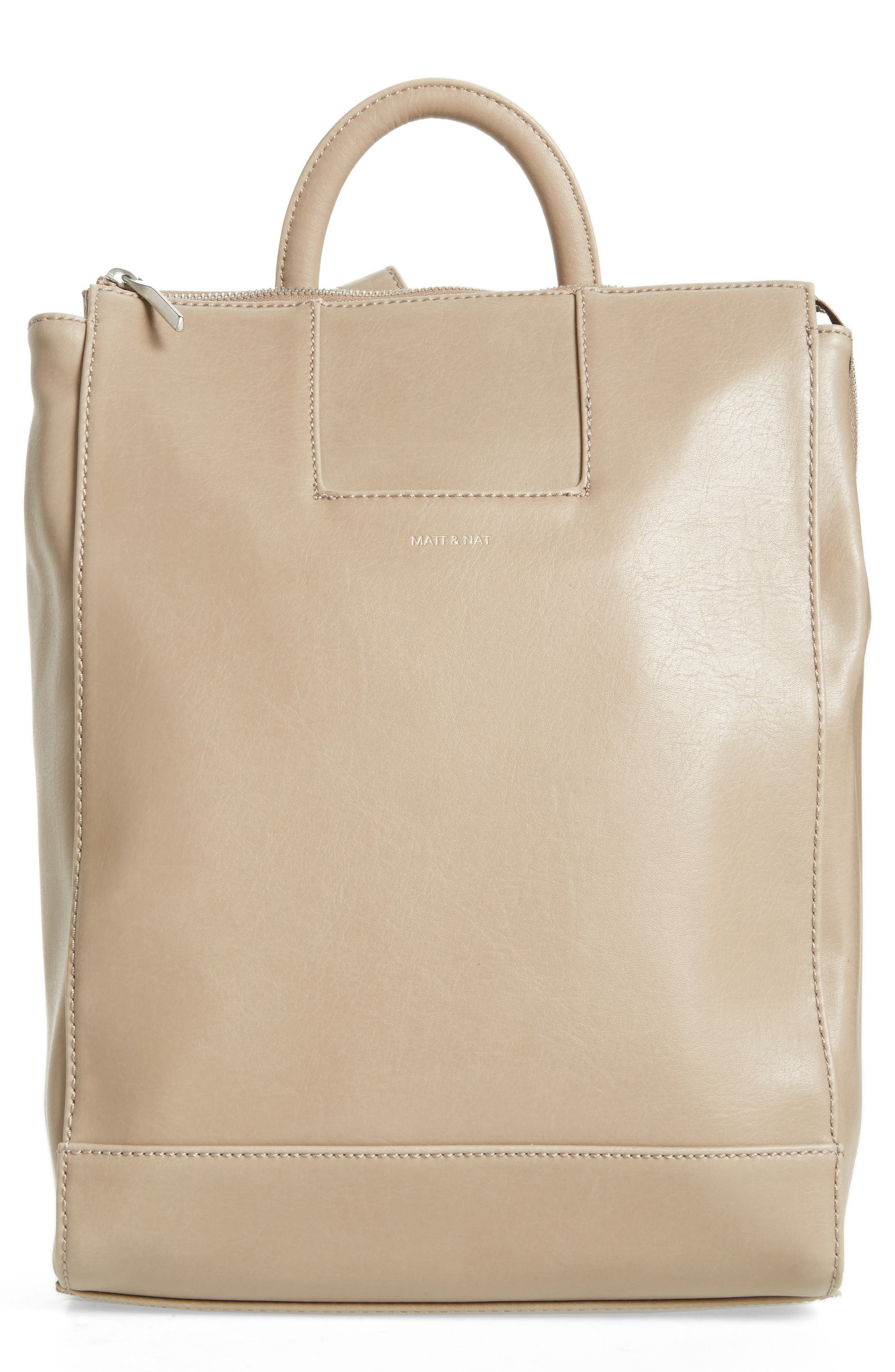 'Katherine' Faux Leather Backpack,                         Main,                         color,