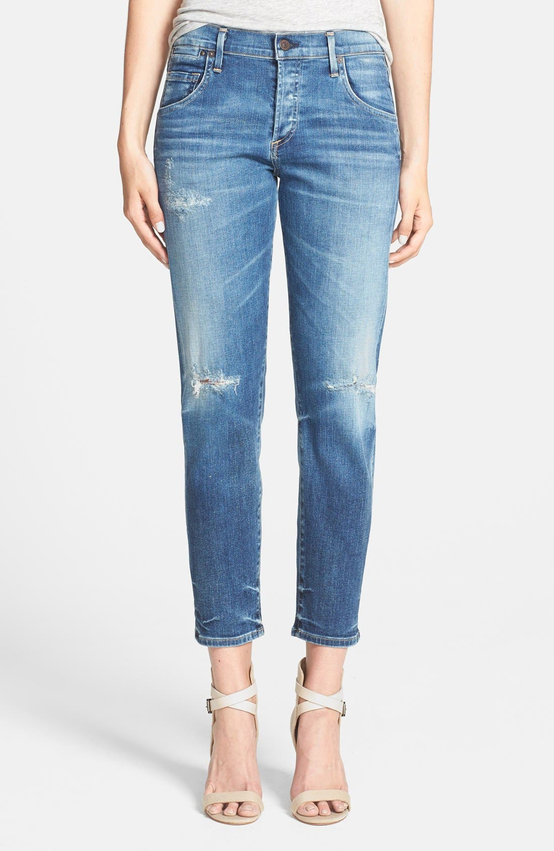 CITIZENS OF HUMANITY,                             'Emerson' Destroyed Slim Boyfriend Jeans,                             Main thumbnail 1, color,                             486