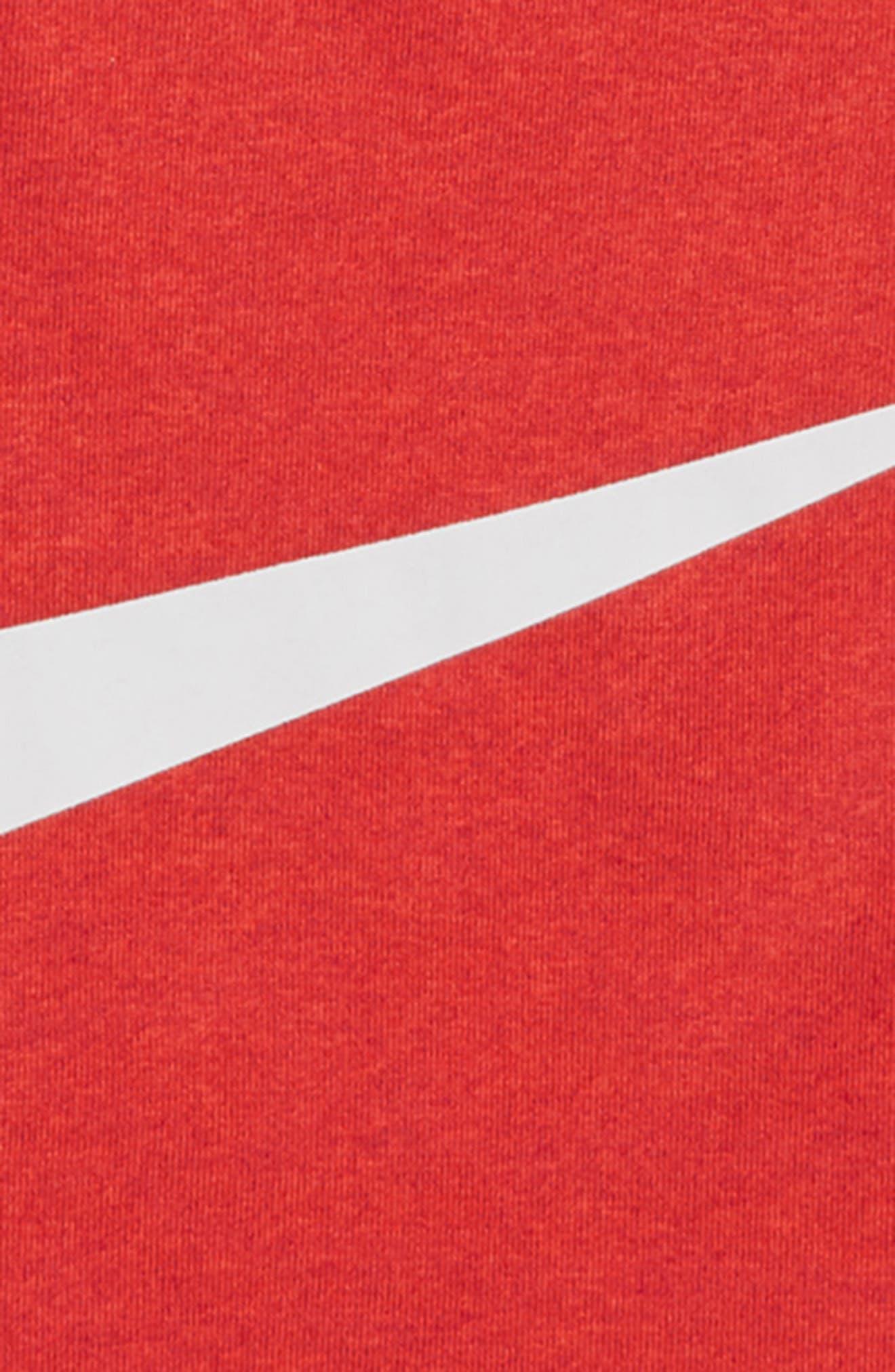 Dry Swoosh T-Shirt,                             Alternate thumbnail 2, color,                             RED / WHITE